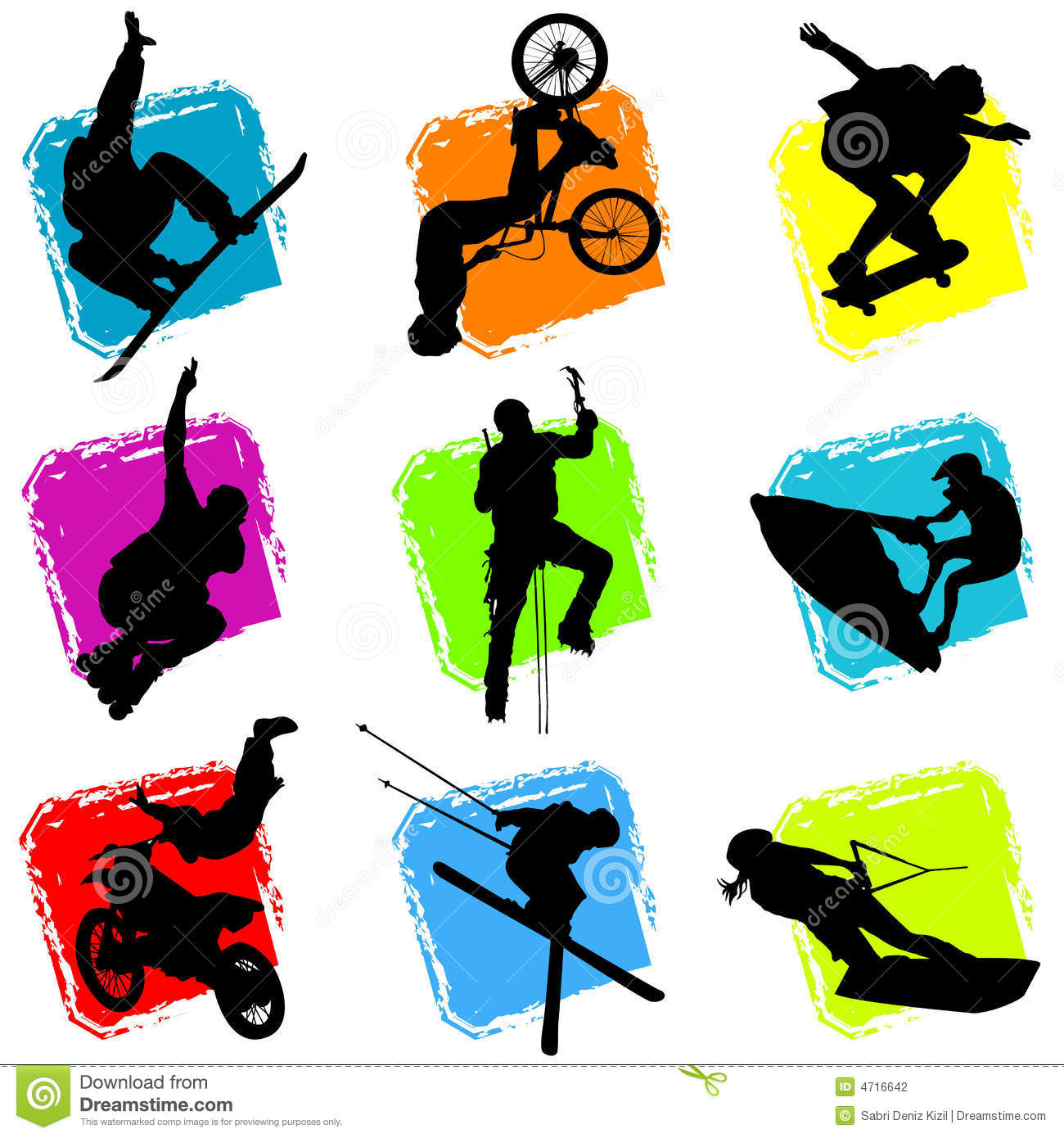 Extreme Sports Vector Stock Photography - Image: 4716642