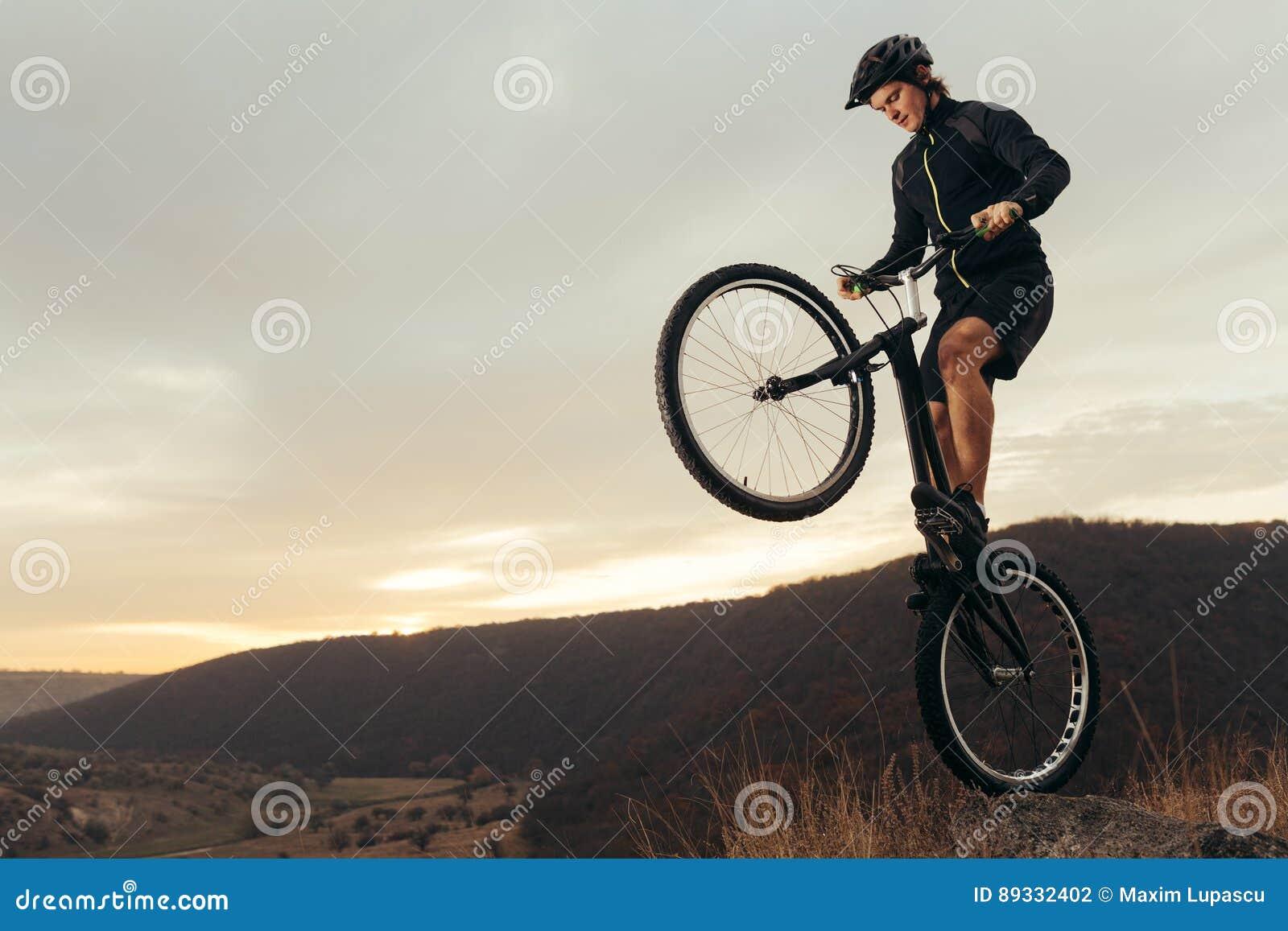 An Extreme Sportsman On Bike Stock Photo - Image of sport, biker