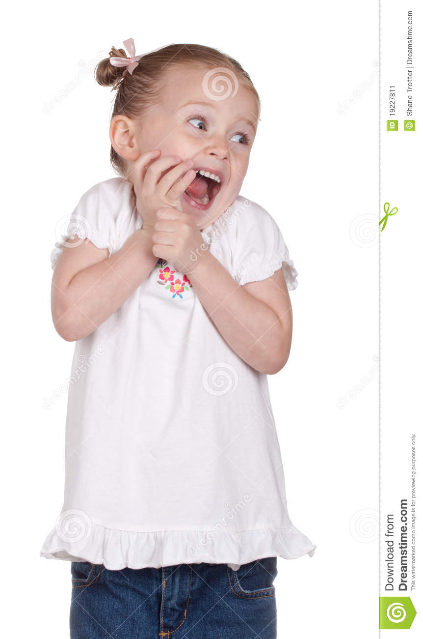 Extremely Excited stock image. Image of child, cute, young ...
