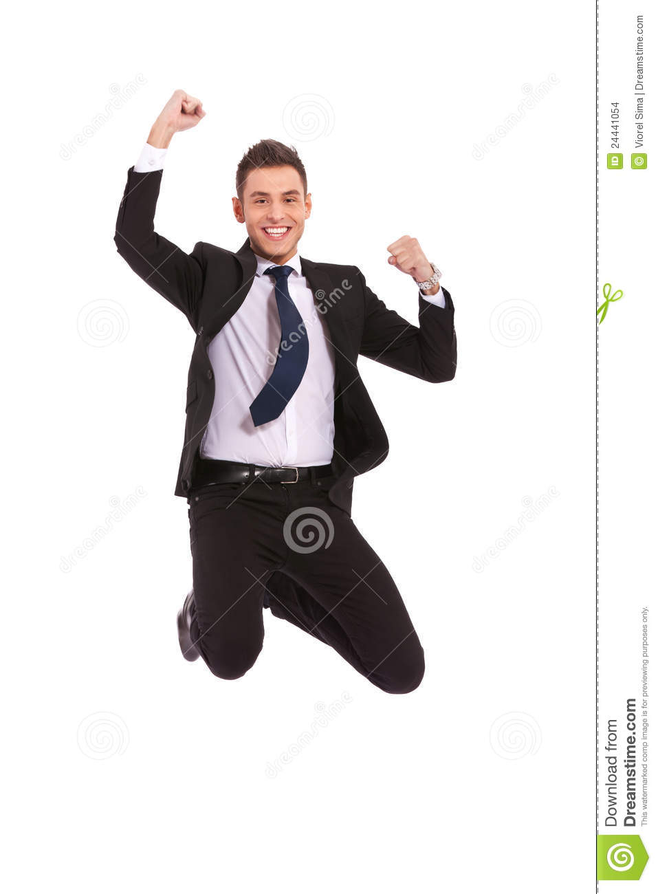 Extremely Excited Business Man Jumping Stock Images ...