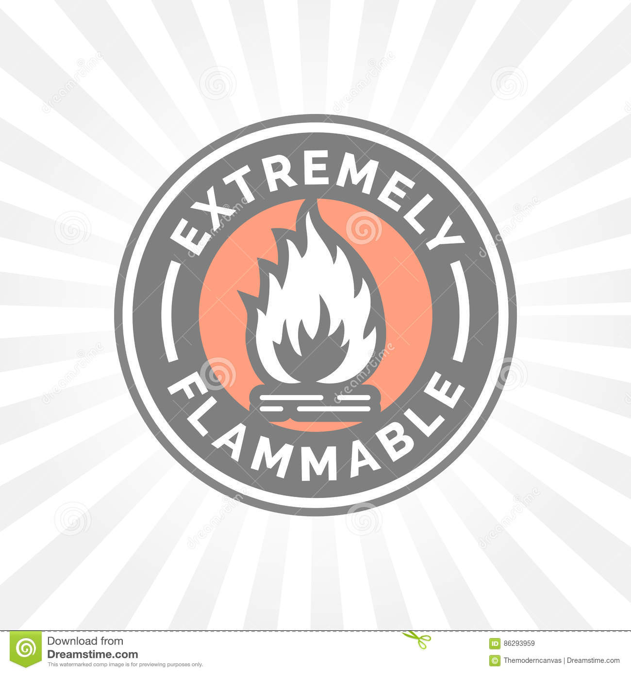 Extremely Flammable Icon Fire Hazard Sign Caution Flame Symbol
