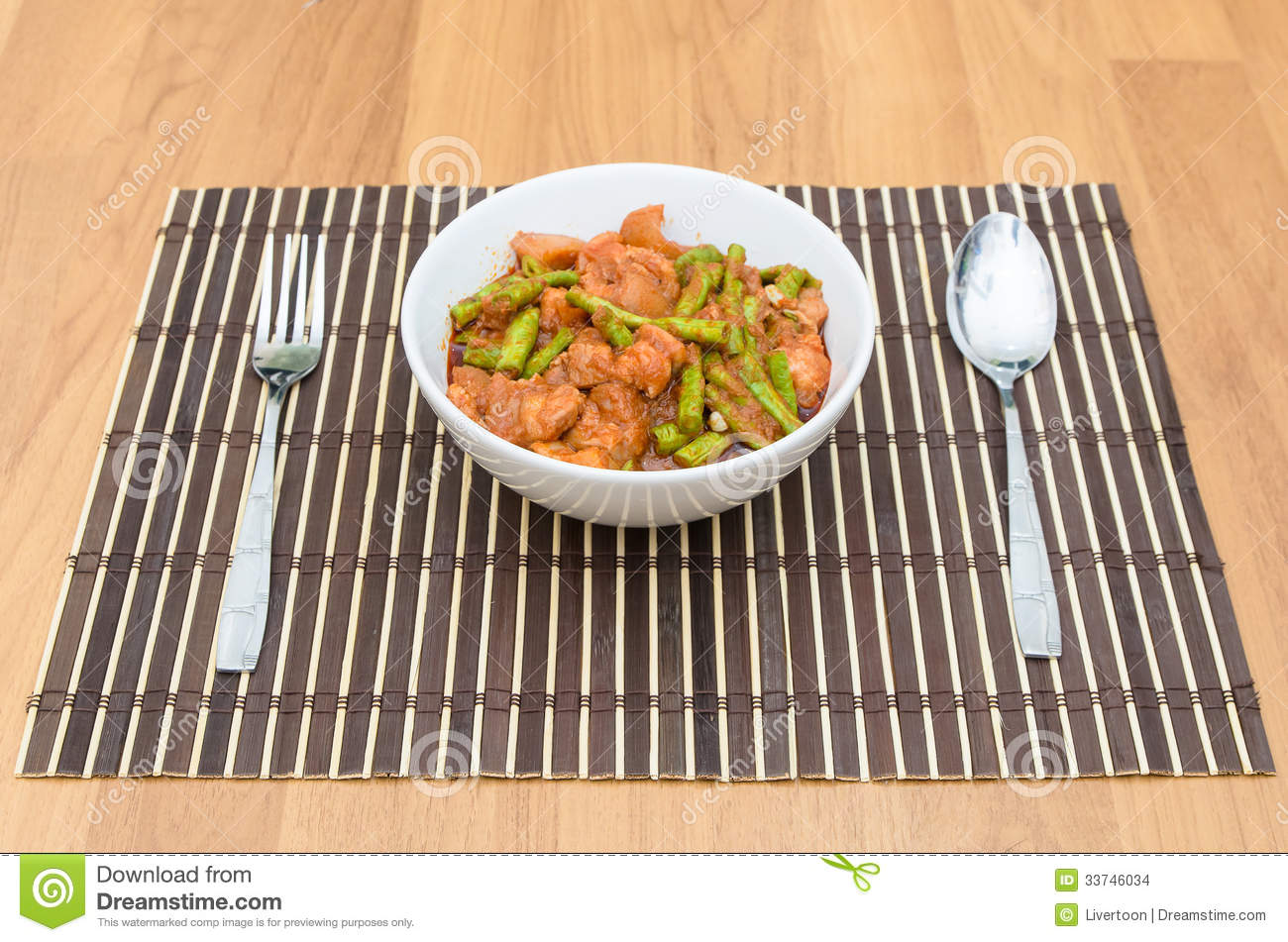 Extremely Hot Stir Fried String Bean With Pork Stock Images - Image ...