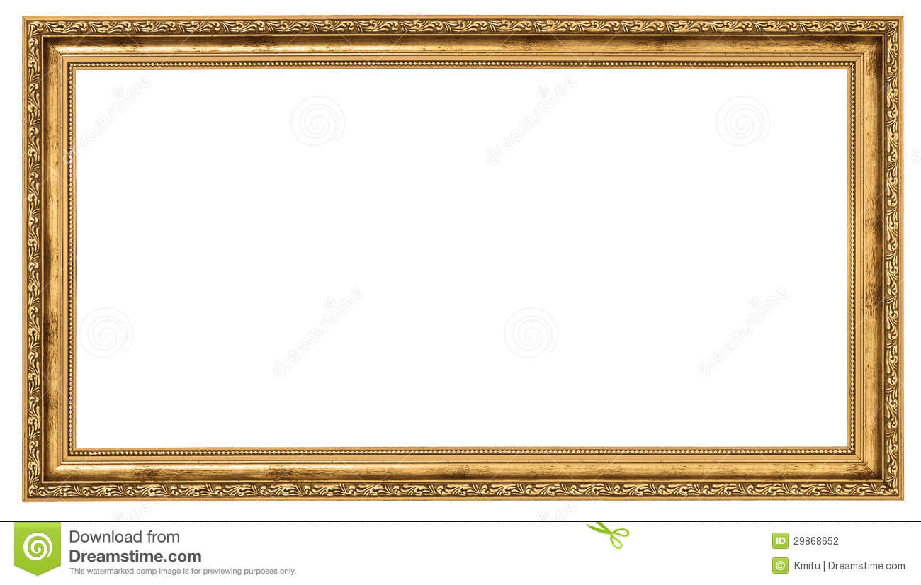 Extremely Long Golden Frame Stock Photo Image 29868652