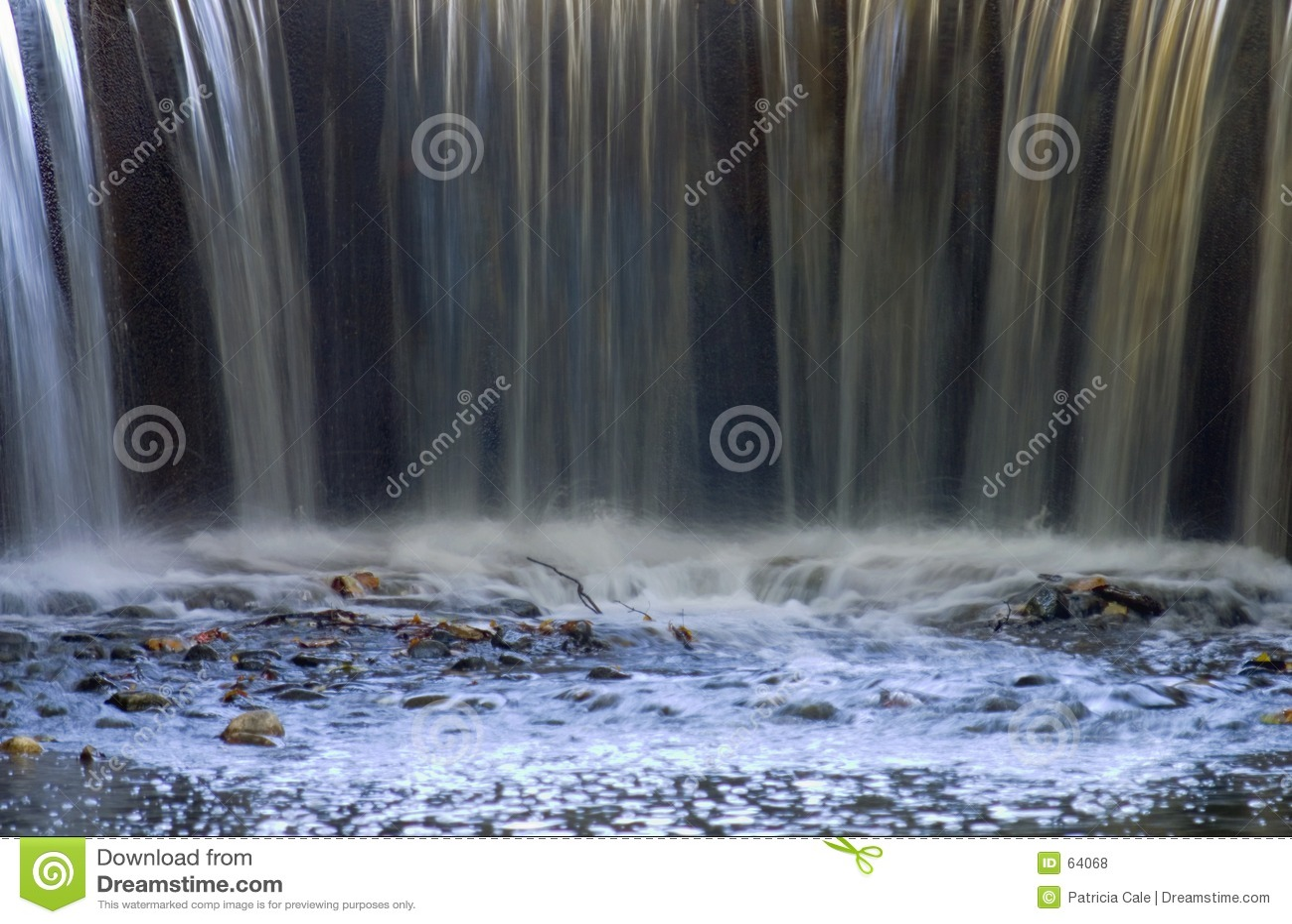 Extremidade da cachoeira