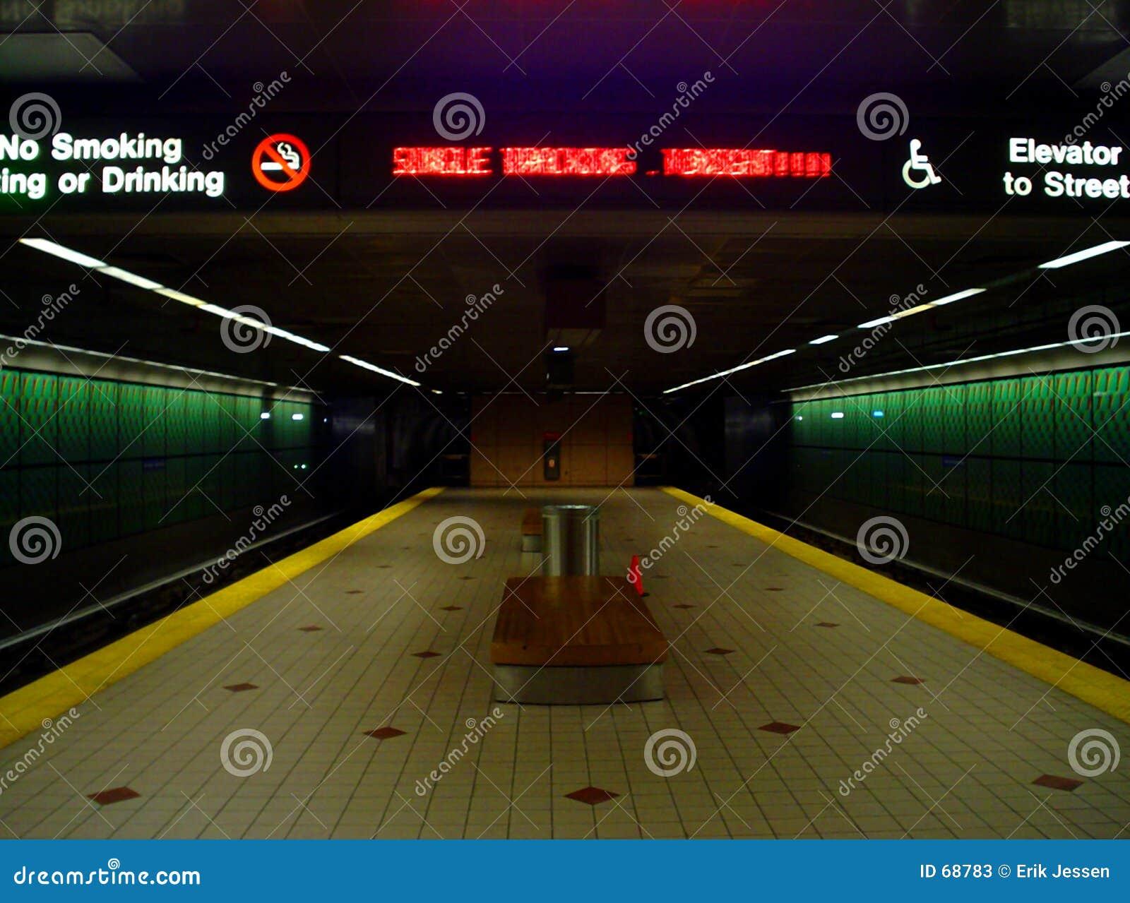 Extremidade do metro