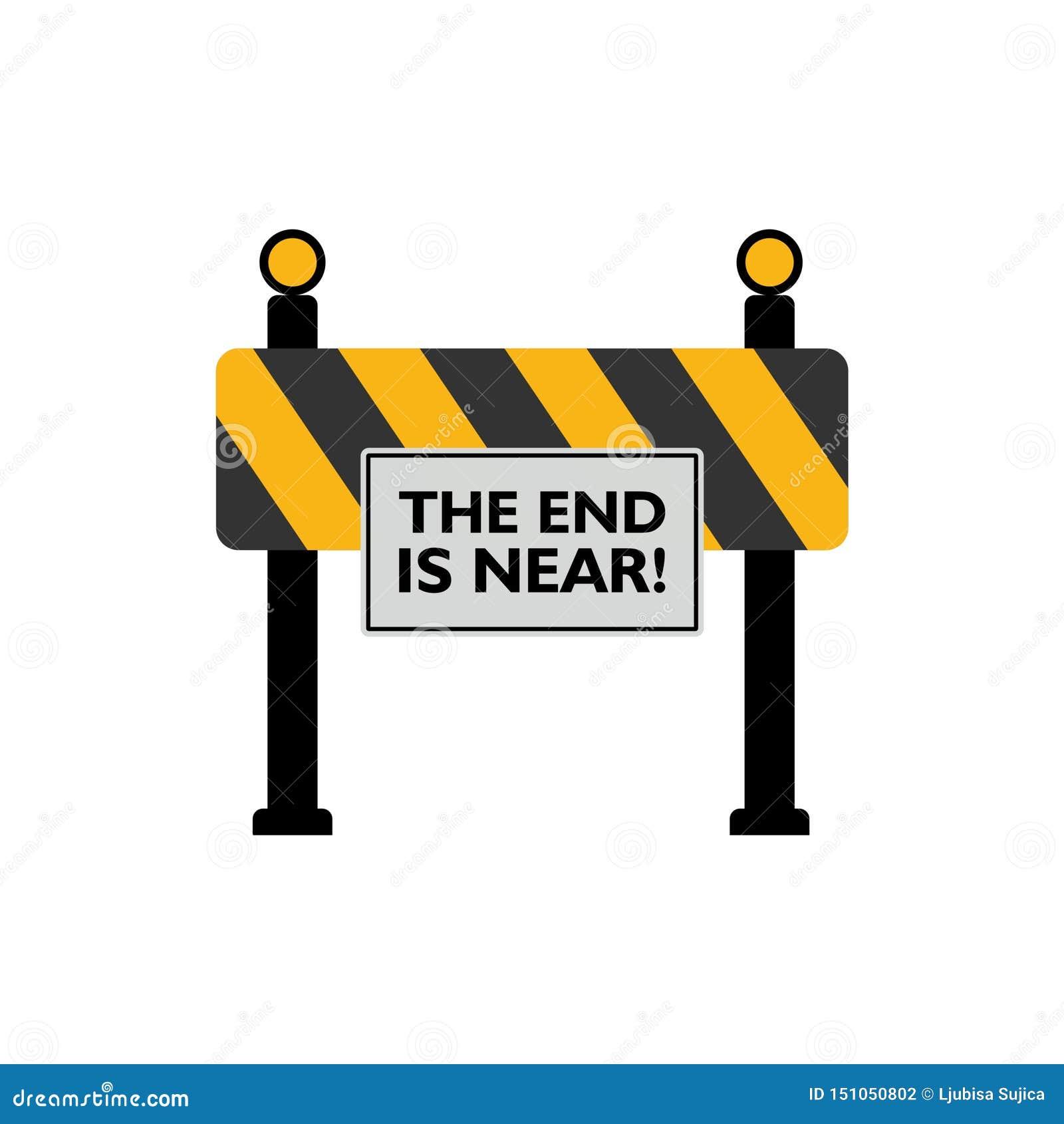 A extremidade está perto do sinal de estrada