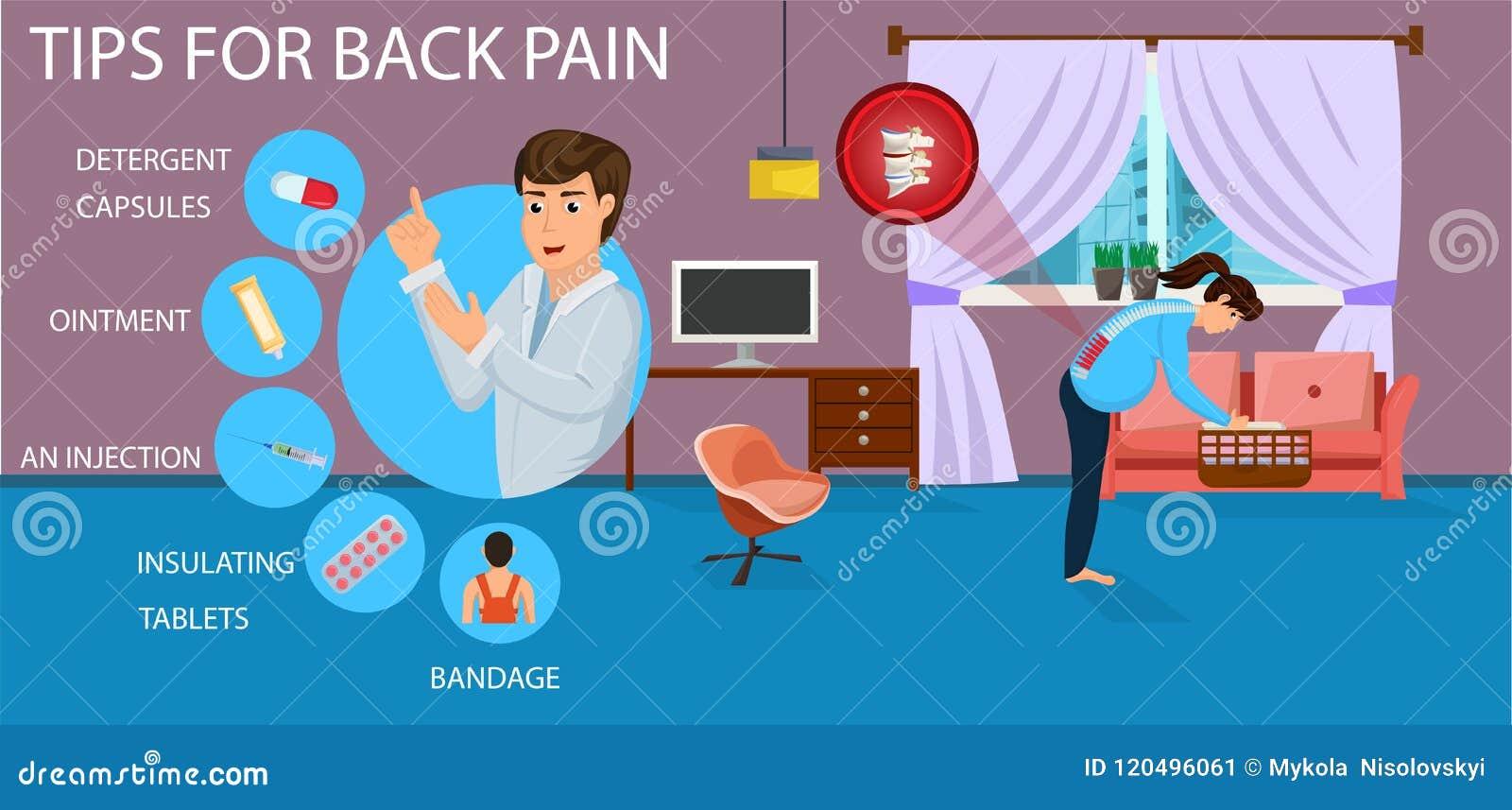 Extremidades para el dolor de espalda para embarazada Vector
