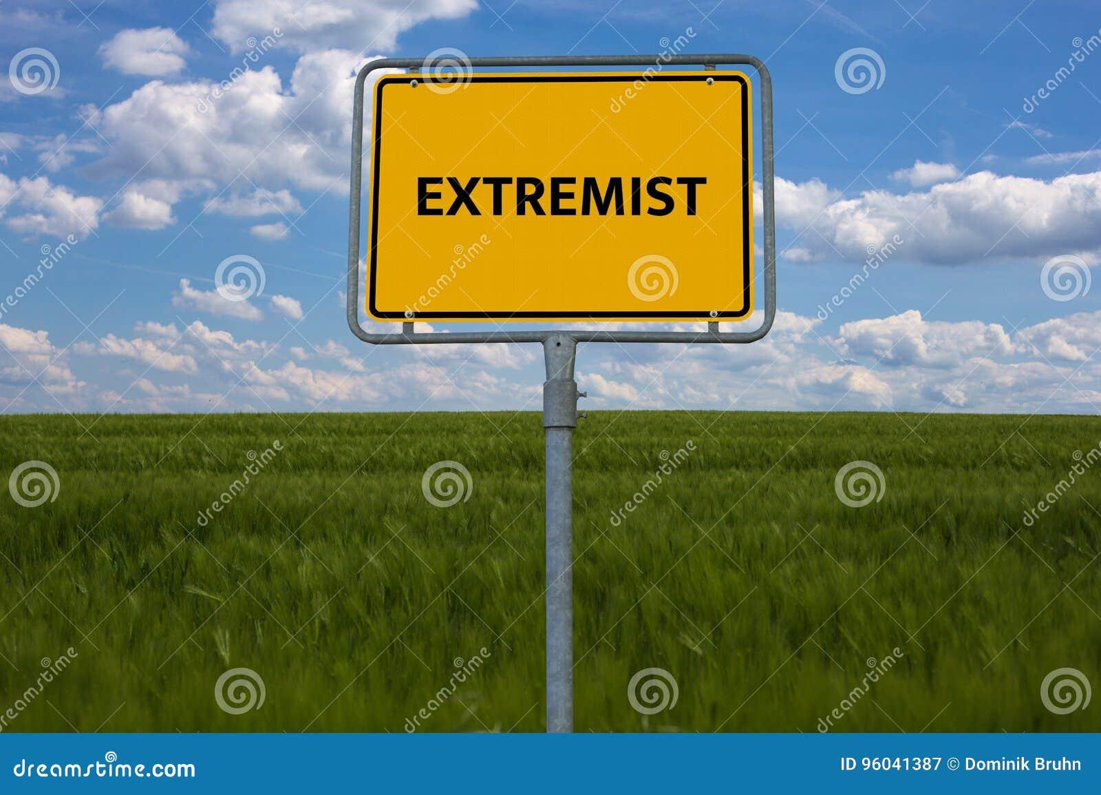 EXTREMISTA - CONSERVADOR - imagen con las palabras asociadas al EXTREMISMO del tema, palabra, imagen, ejemplo