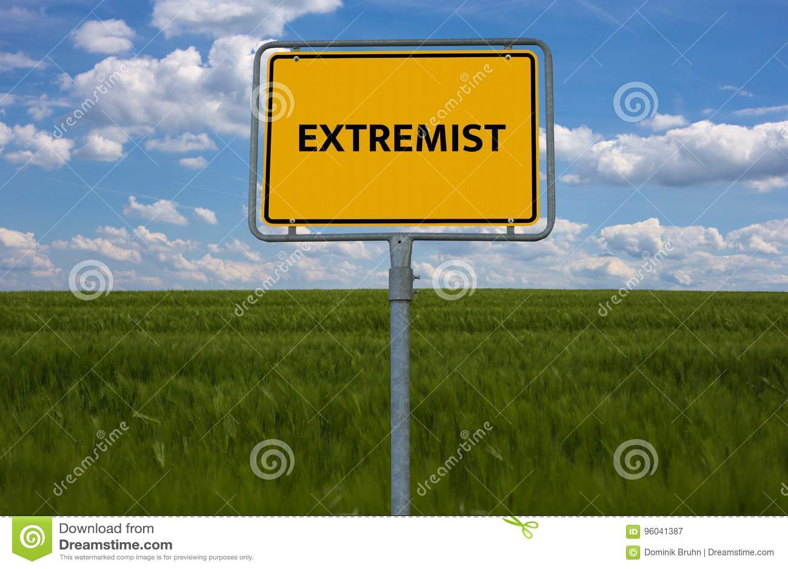 EXTREMISTISCH - CONSERVATIEF - beeld met woorden verbonden aan onderwerpextremism, woord, beeld, illustratie