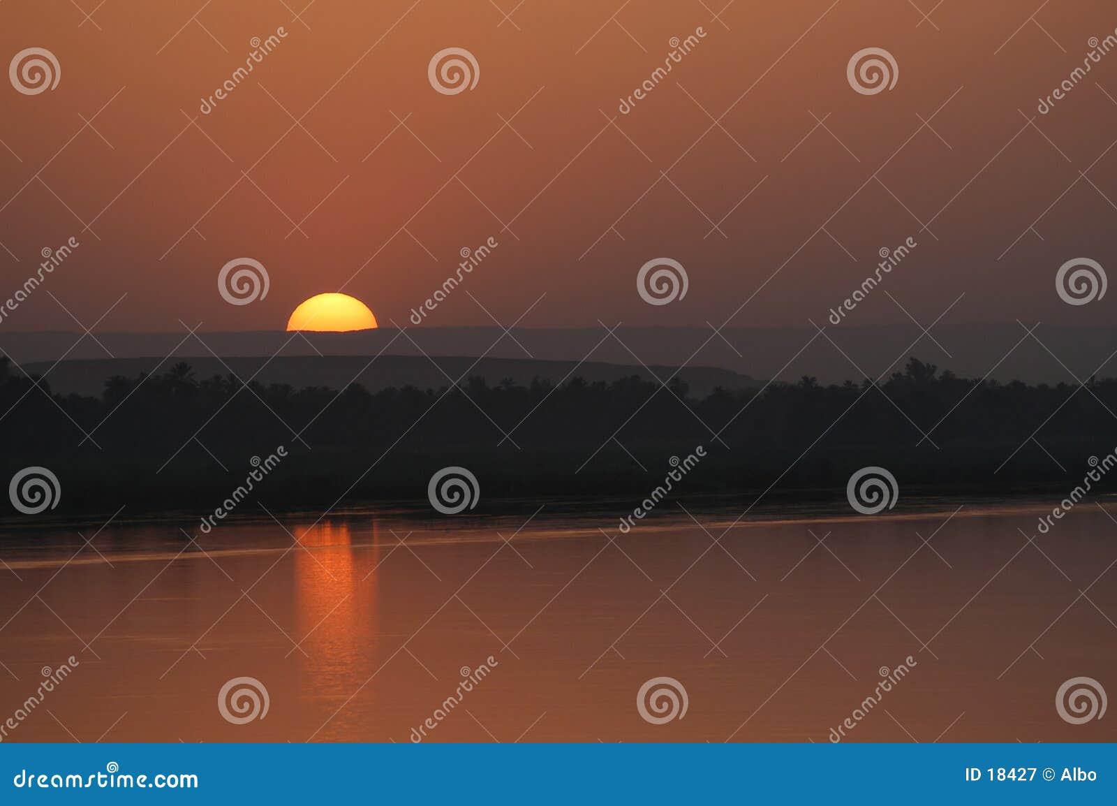 Extremo de la puesta del sol