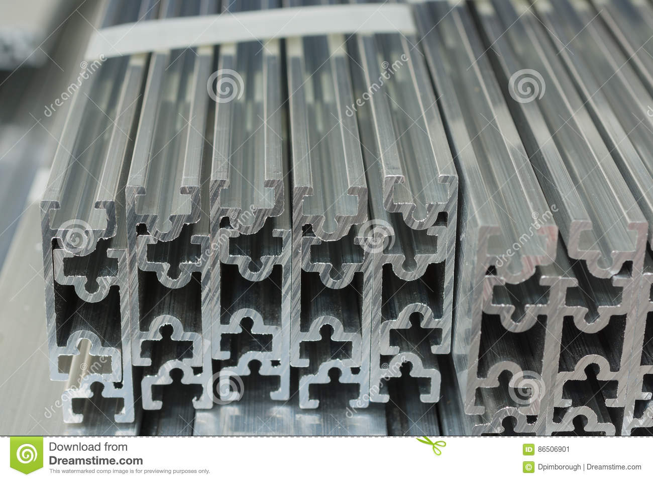 Extruded Aluminium Channel Stock Image Image Of Channel