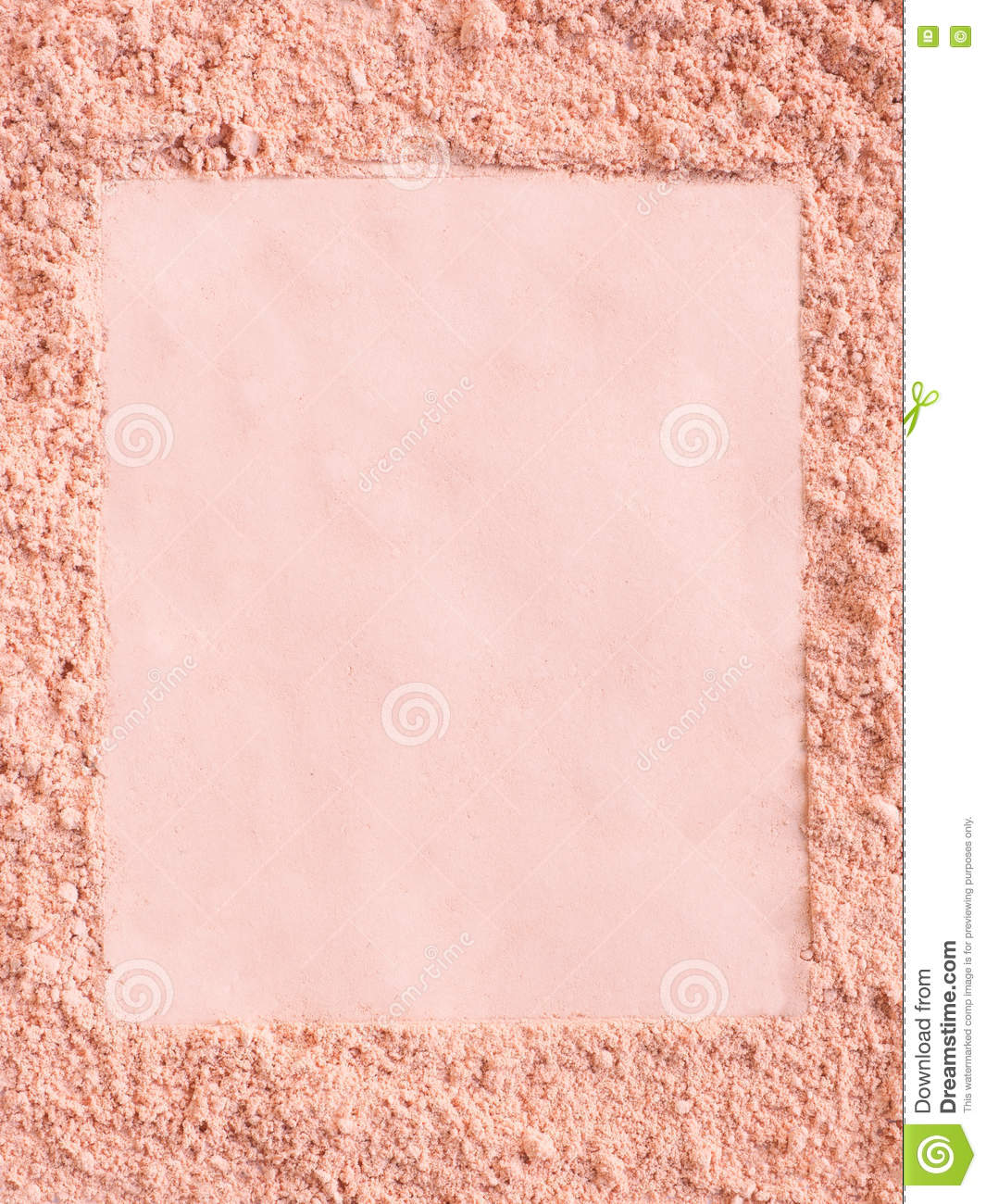 Extruded frame in a foundation cosmetic powder