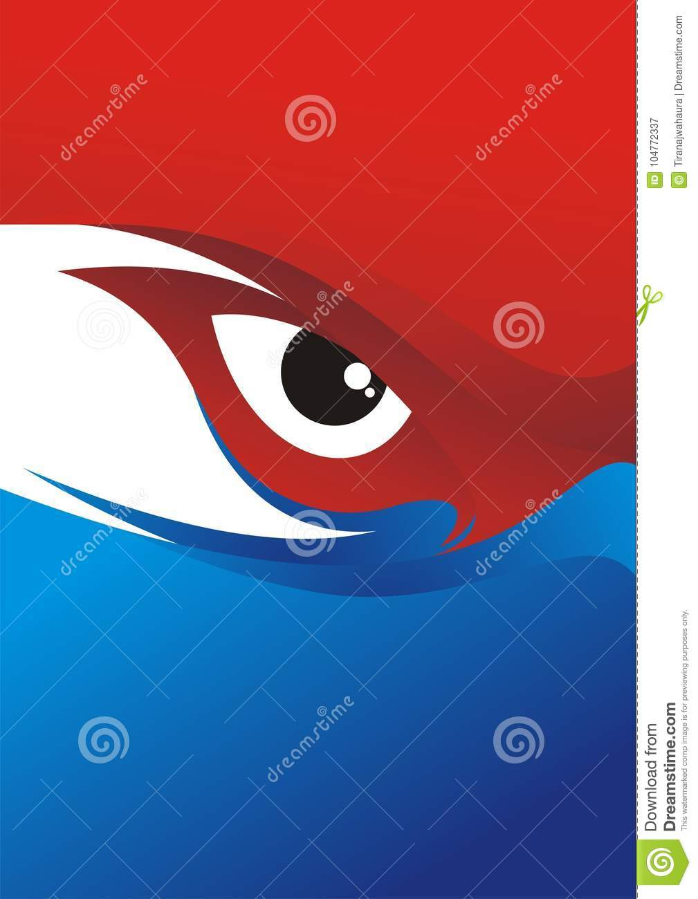 Eye Background With Red - Blue Color Design Stock Vector ...