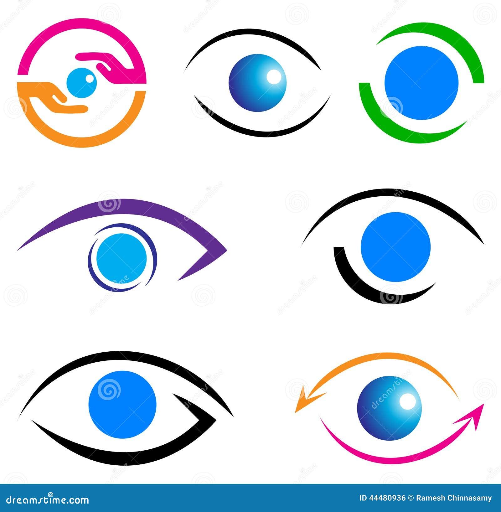 Eye care logo stock vector image 44480936 for Illustration minimaliste