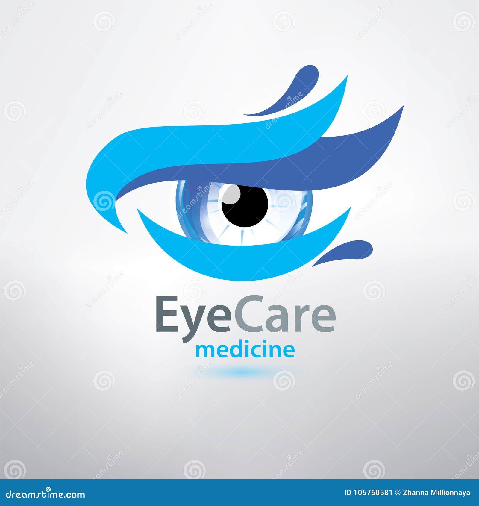Eye Care Logo Template Stylized Symbol Stock Vector Illustration