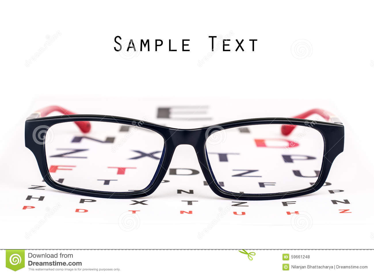 eye care specs and chart stock photo image 59661248