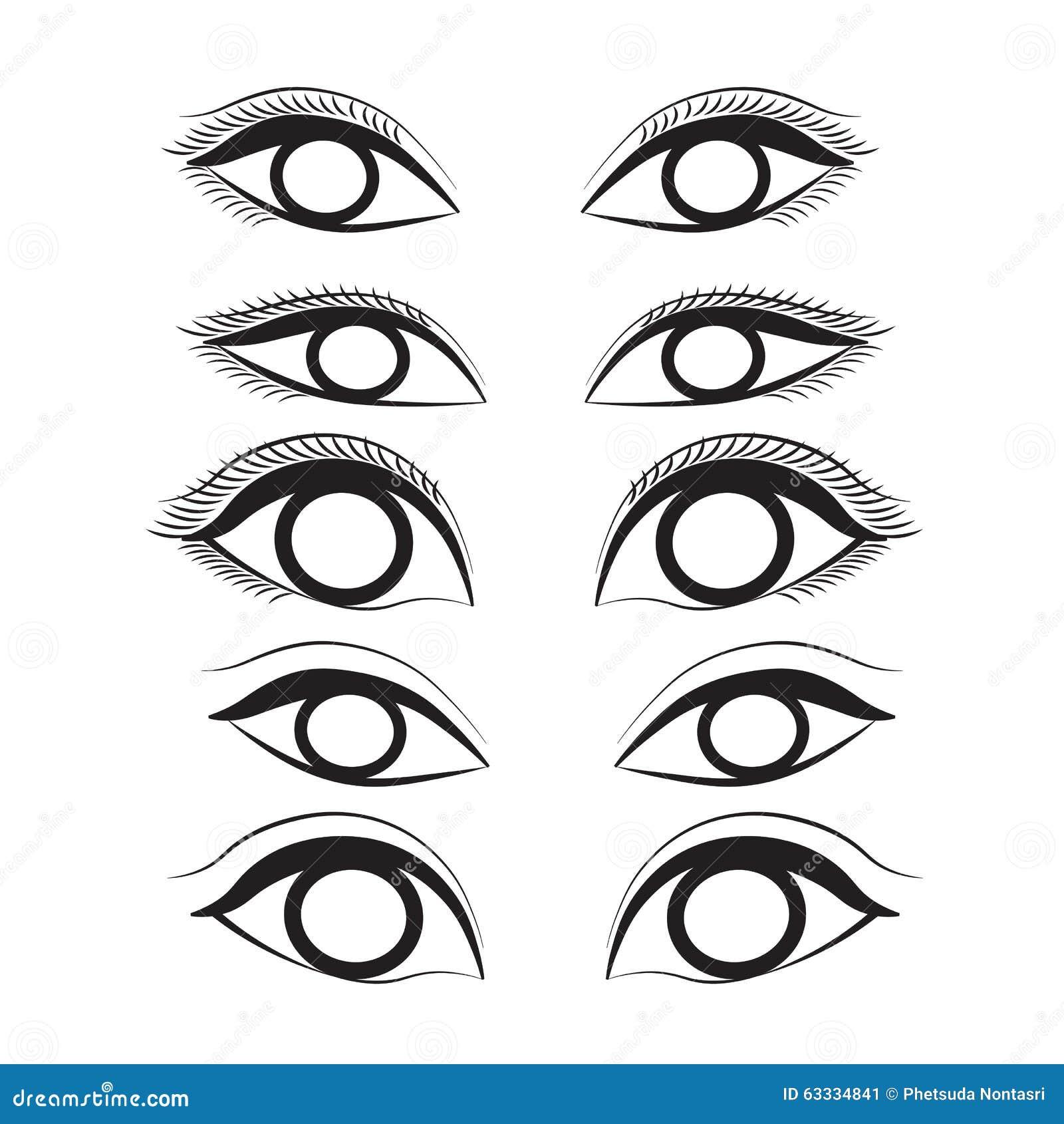Eye Cartoon Line Sketch Shape Design Abstract Illustration Stock Image 63334841