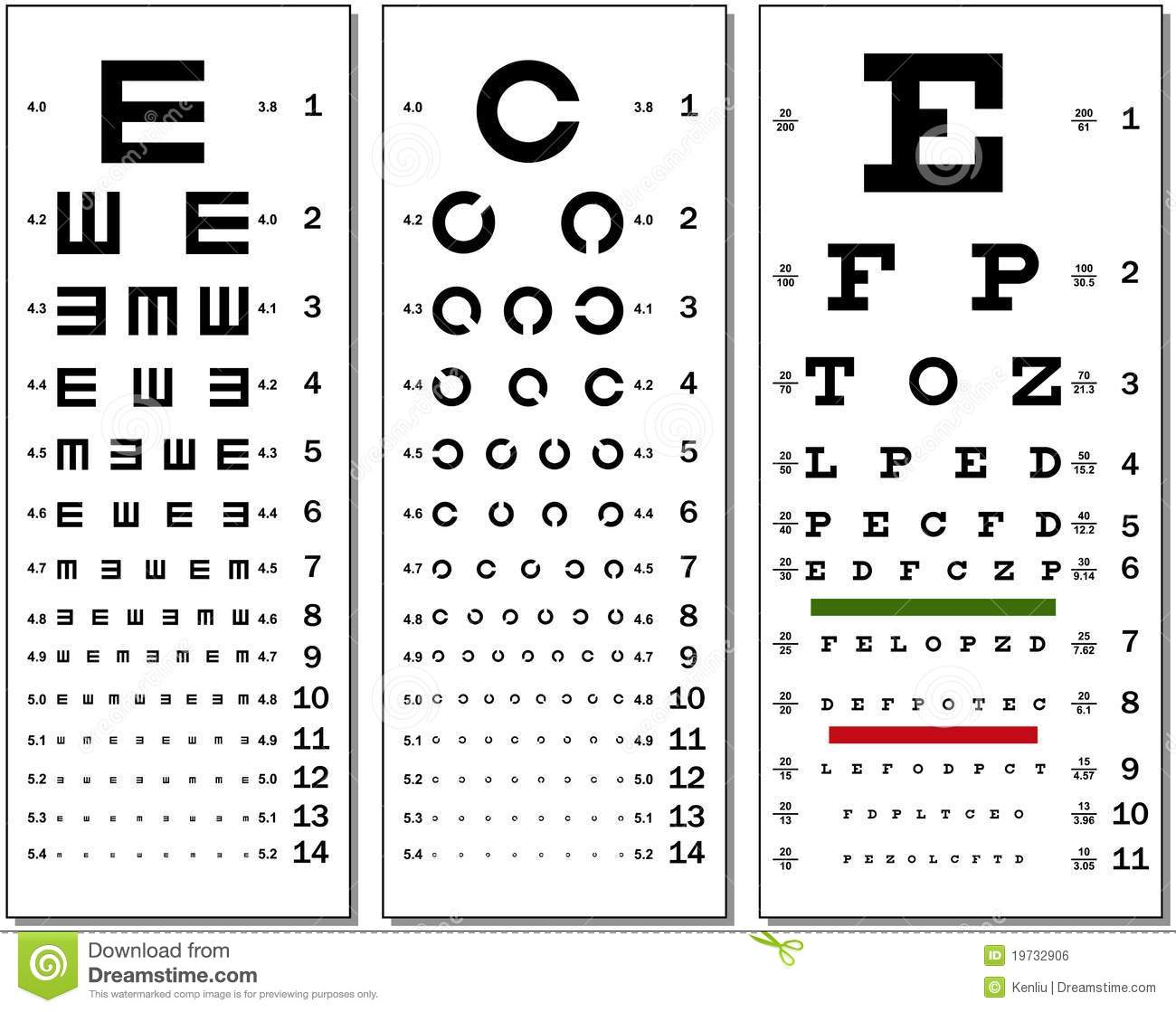 Medical Fuzzy Sight Of Eye Chart Stock Image Image Of Medicine