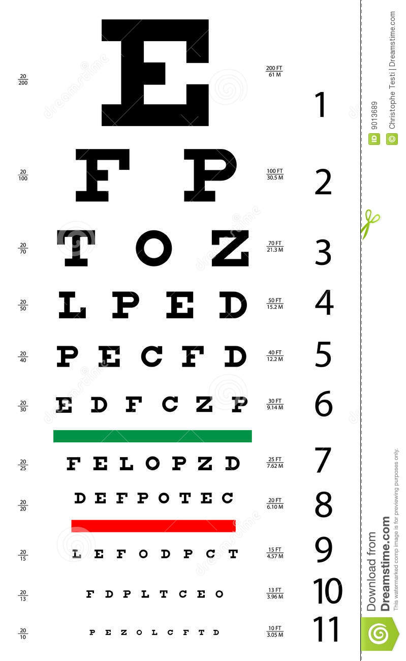Eye Chart Stock Vector Illustration Of Graphic Isolated 9013689