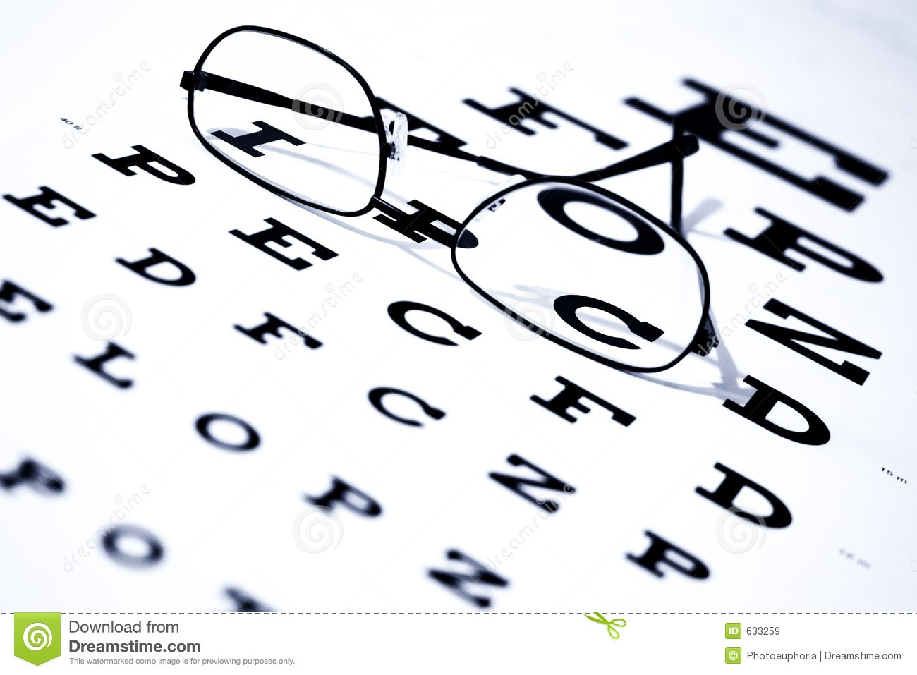 Eye Chart And Glasses Stock Image Image Of Vision Eyeglasses 633259