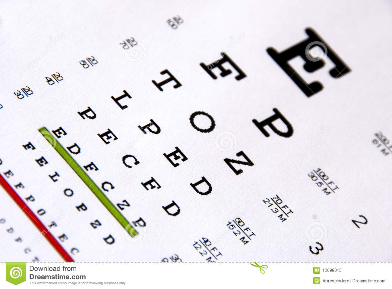 Eye chart test stock image image of glass magnify conceptual eye chart test royalty free stock photo geenschuldenfo Choice Image
