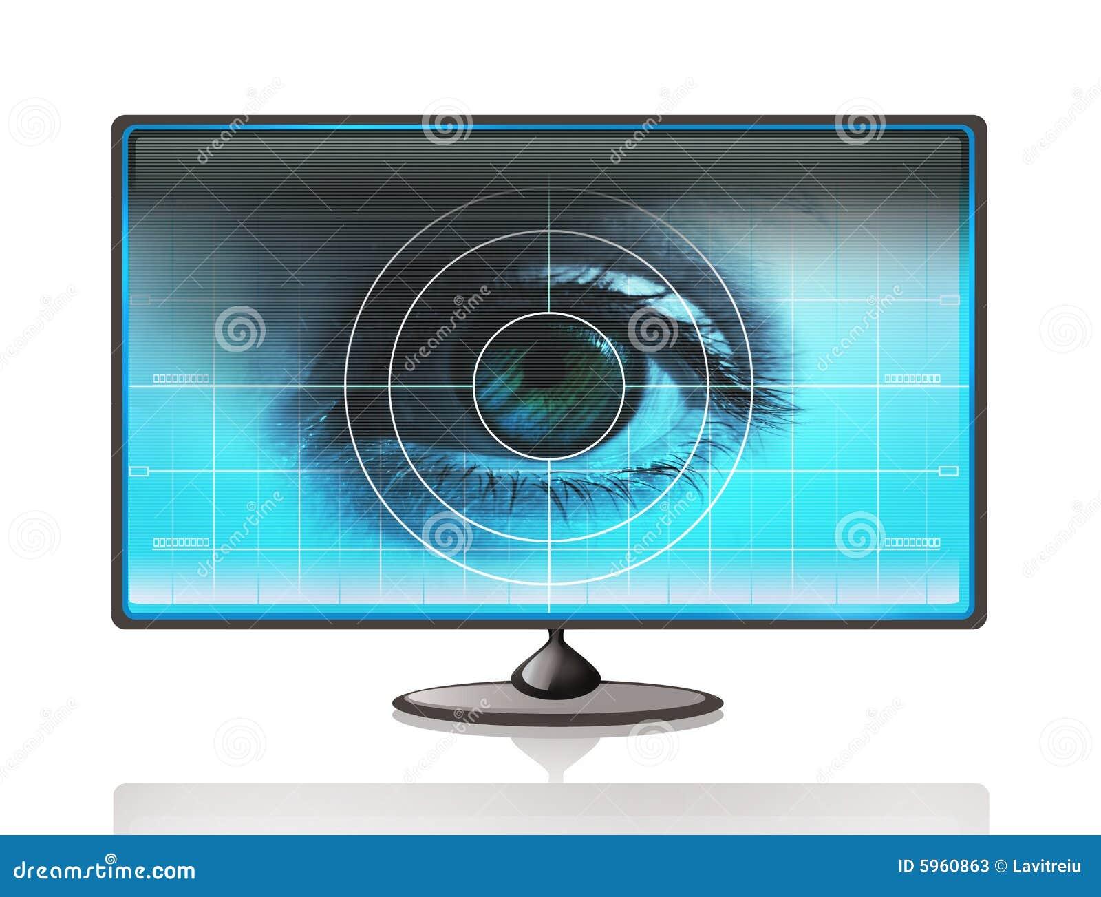 Eye on computer display