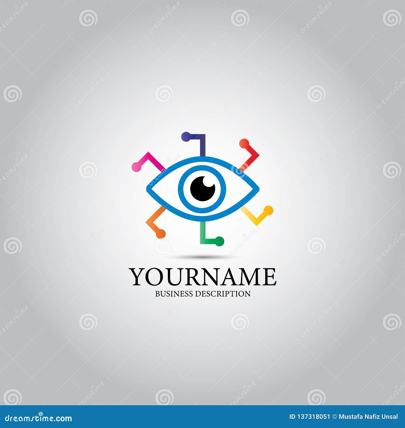 Eye Data Tech Lens Logo