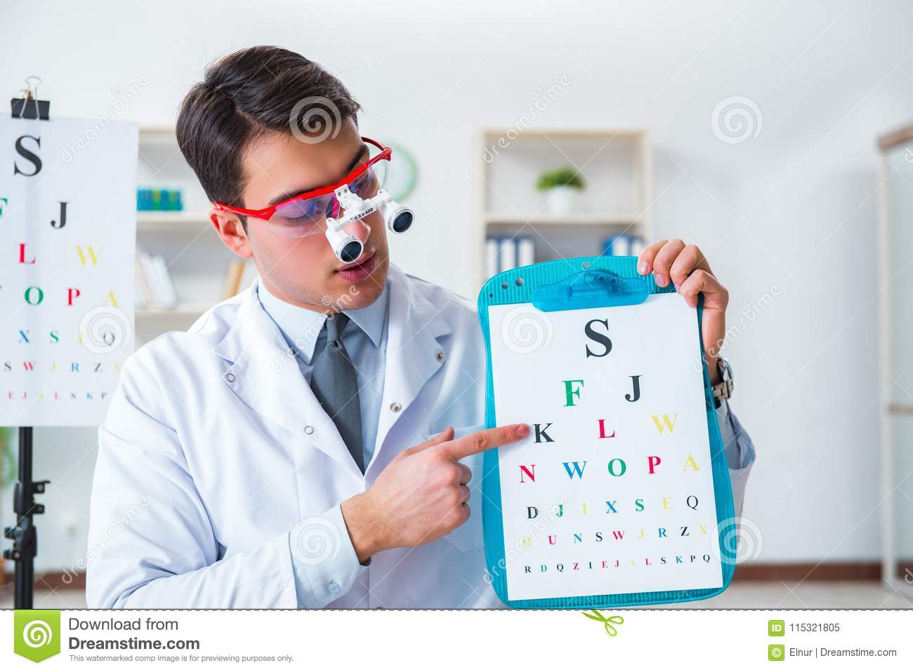 The Eye Doctor In Eyecare Concept In Hospital Stock Image - Image of  health, eyes: 115321805