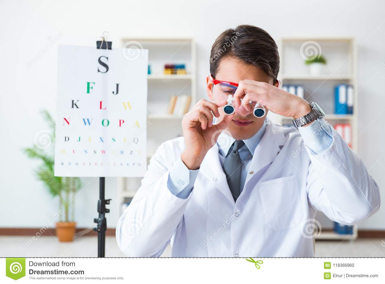 2e81e2624cf The Eye Doctor In Eyecare Concept In Hospital Stock Photo - Image of ...