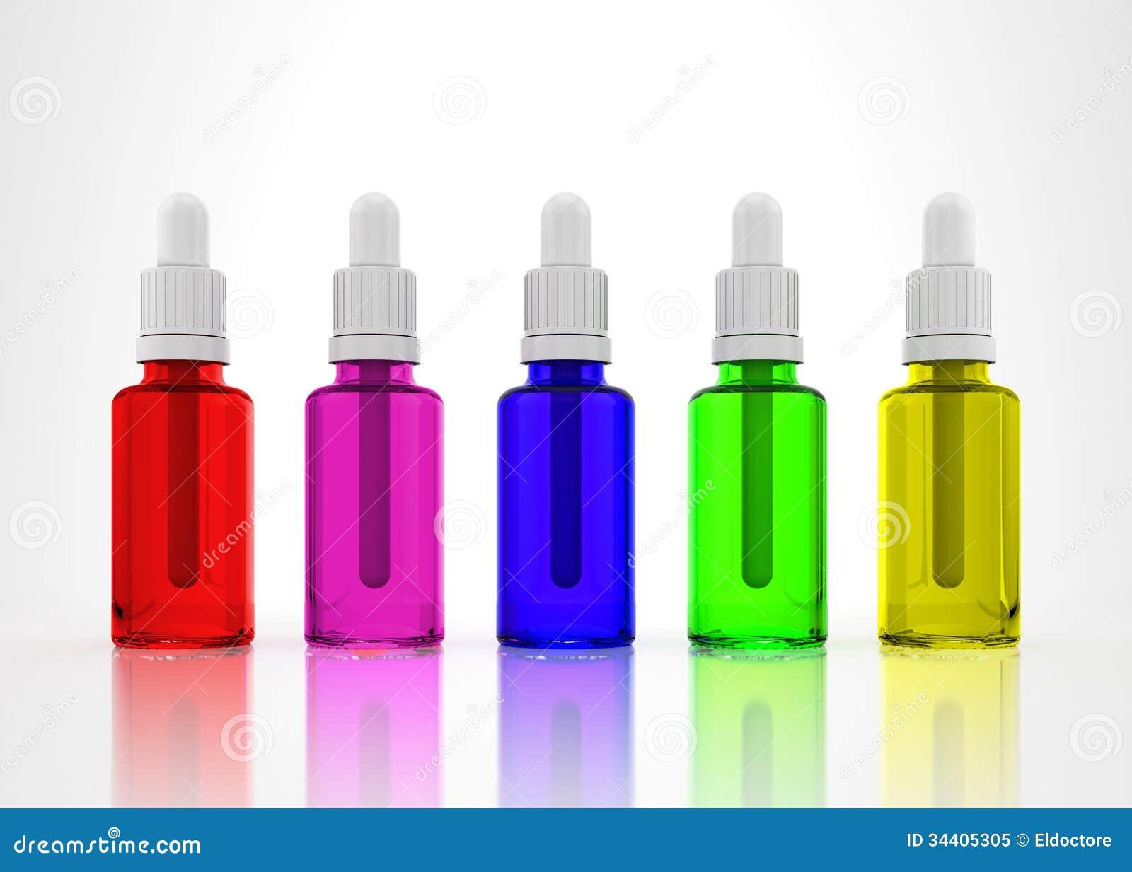 Eye Dropper Bottles Isolated Royalty Free Stock Photo