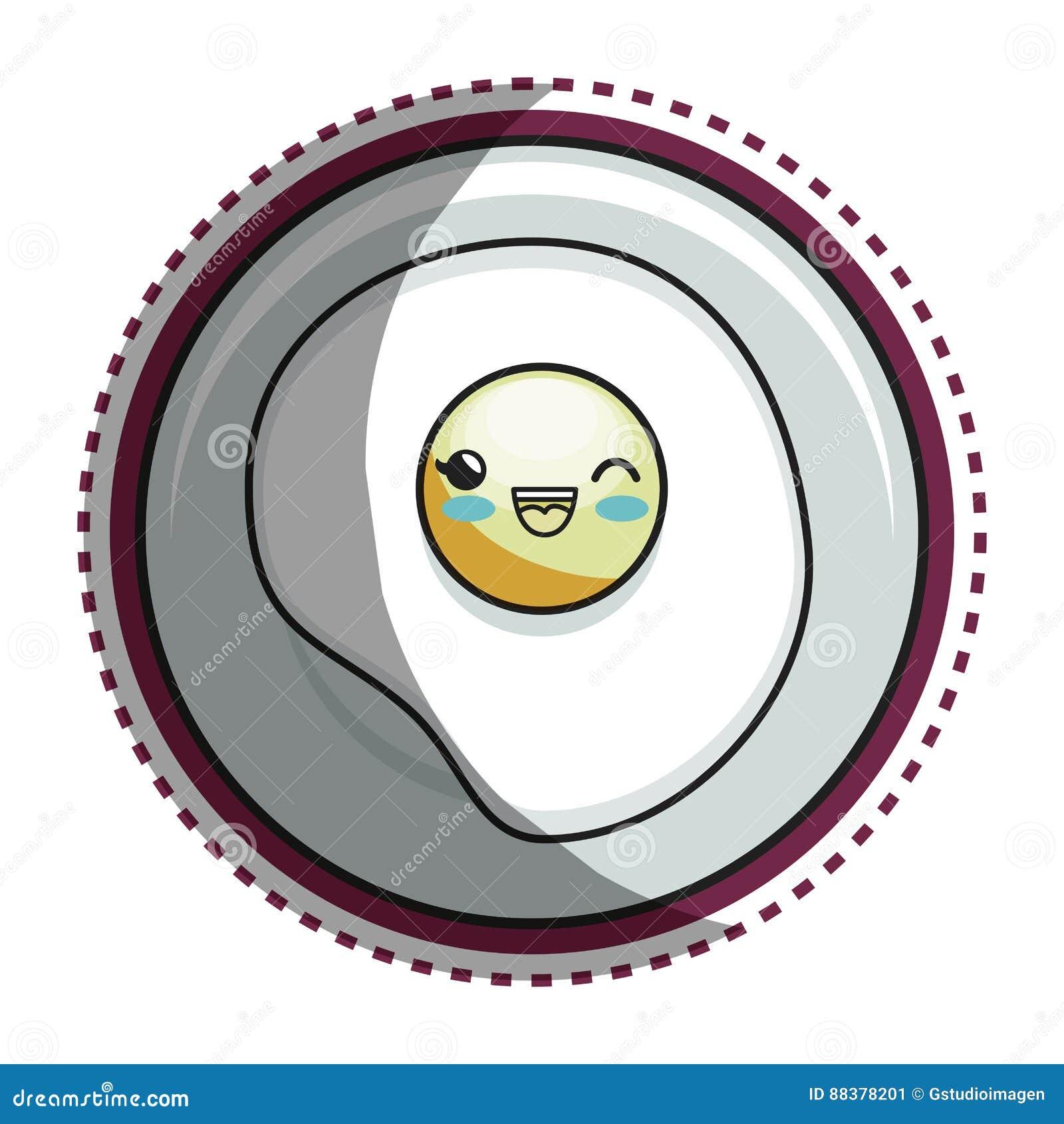 Eye fried cartoon character