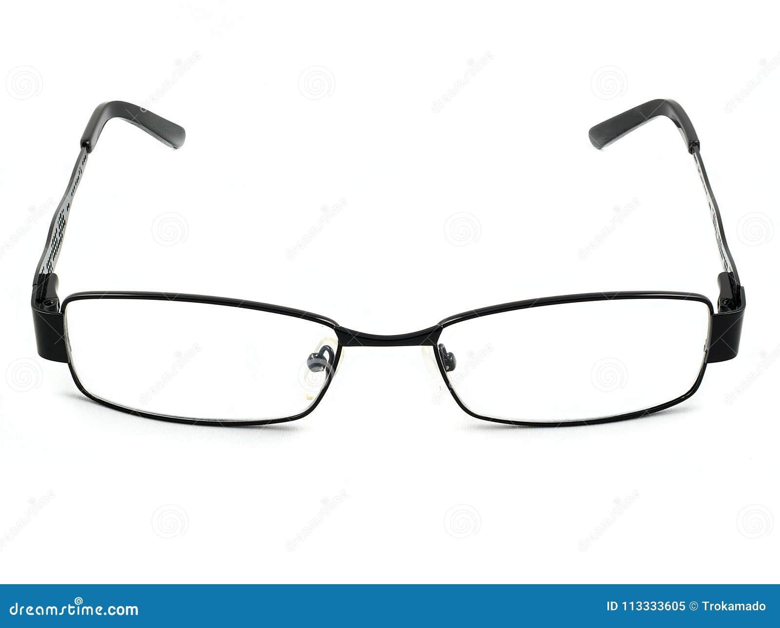 Black Eye Glasses New Design Sharpen Front View Stock