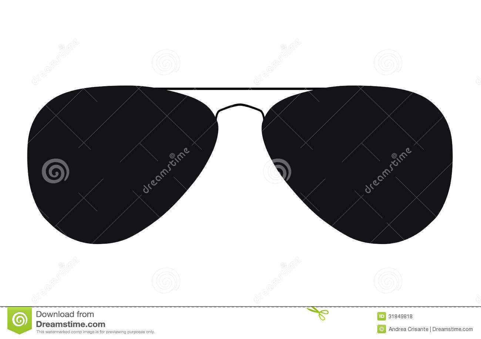 Sunglasses Clipart Black And White Eye glasses silhouette...