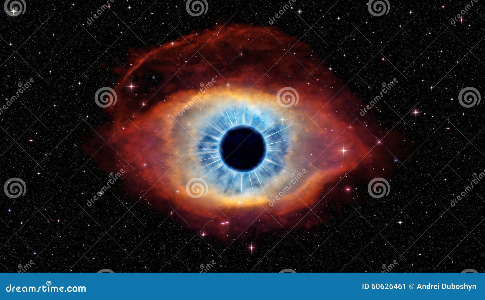 Eye Of God In Nebula Helix Stock Illustration Image Of
