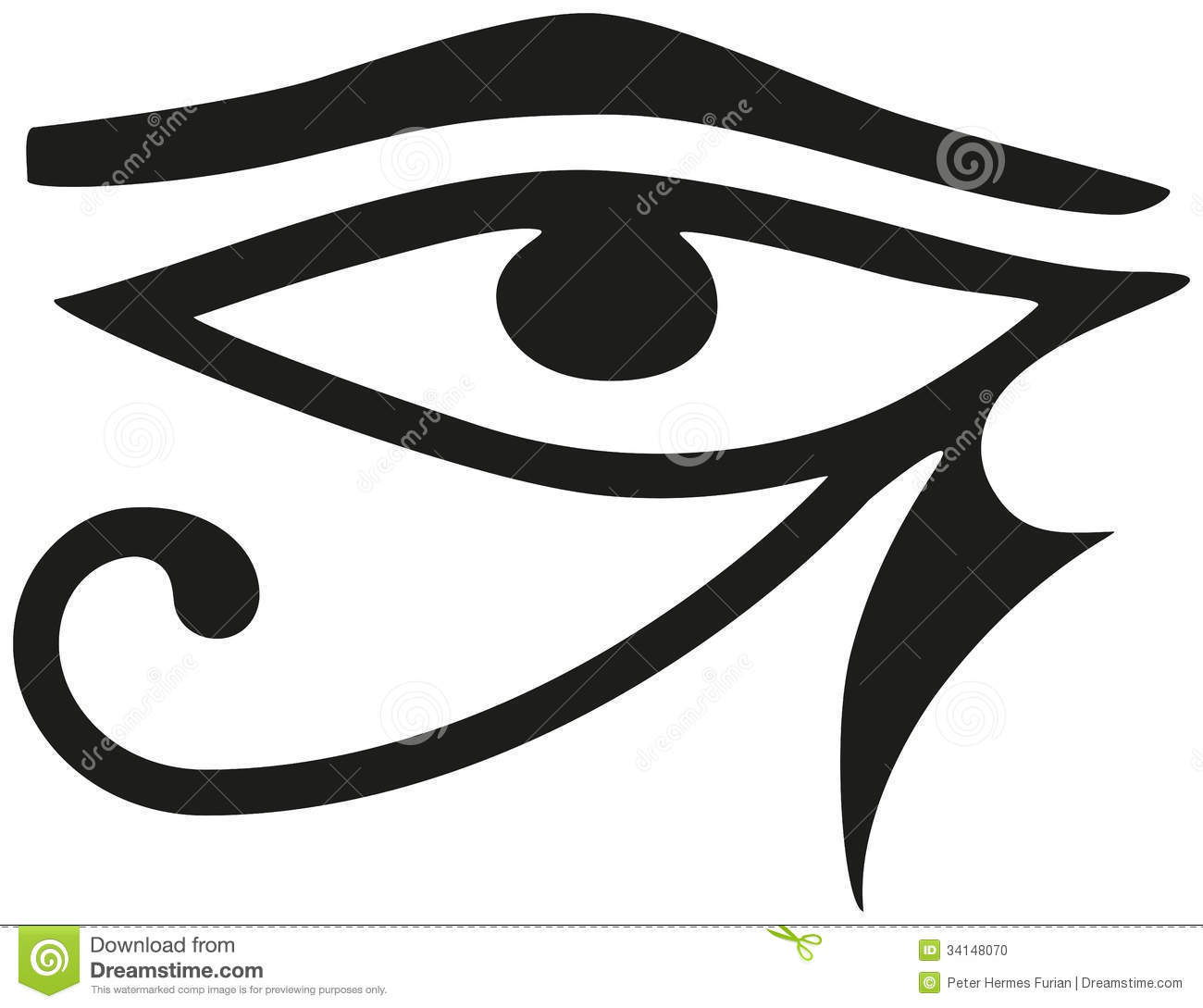 Eye Of Horus Stock Vector Illustration Of Protection 34148070