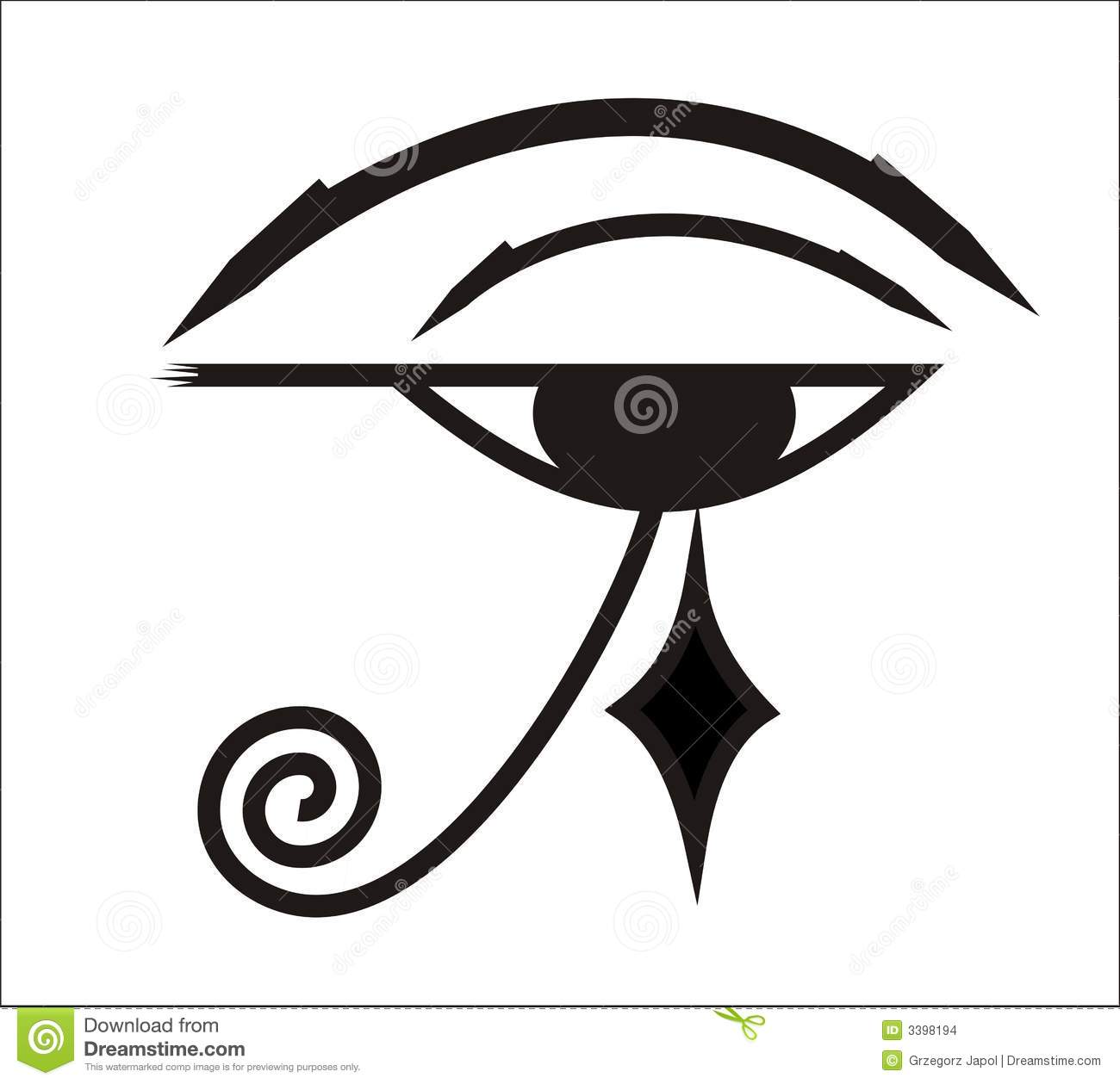 Eye Of Horus Egyptian Symbol Stock Illustration Illustration Of