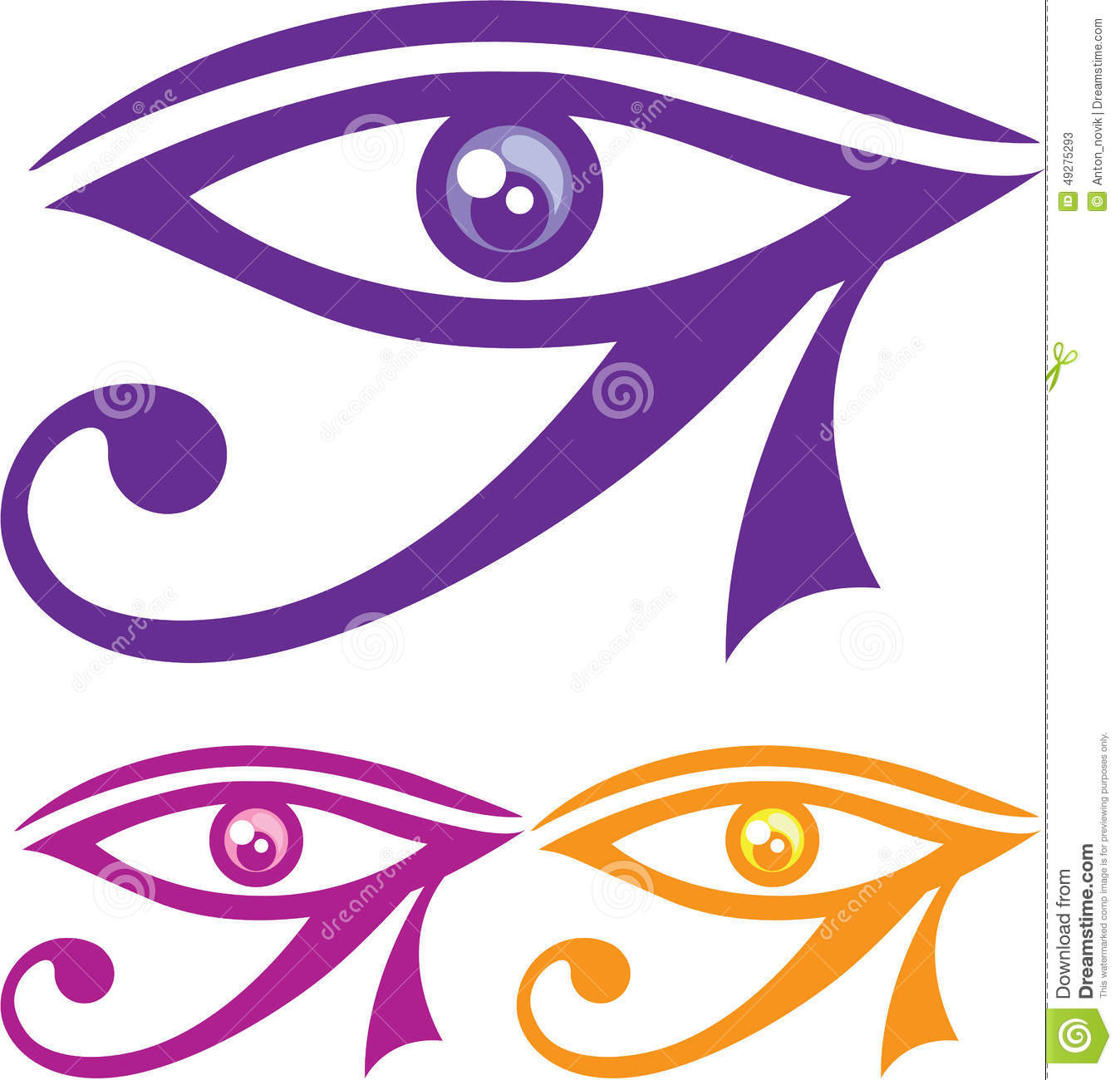how to draw the eye of horus