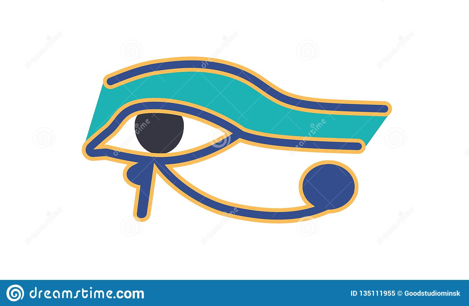 Eye Of Horus Or Wadjet, Ancient Egyptian Hieroglyphic Sign