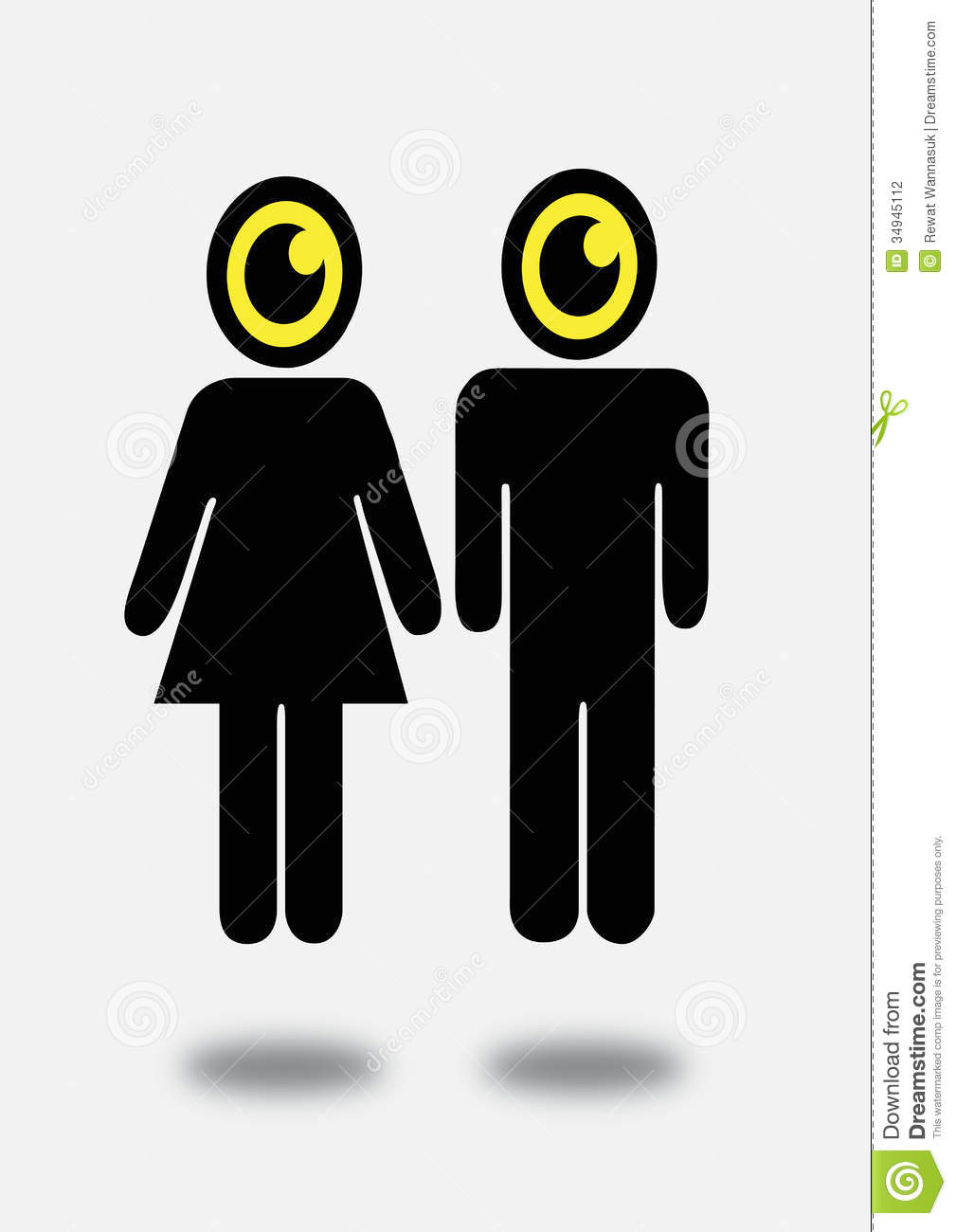 Character Design Icon : Eye icon character design stock photography image
