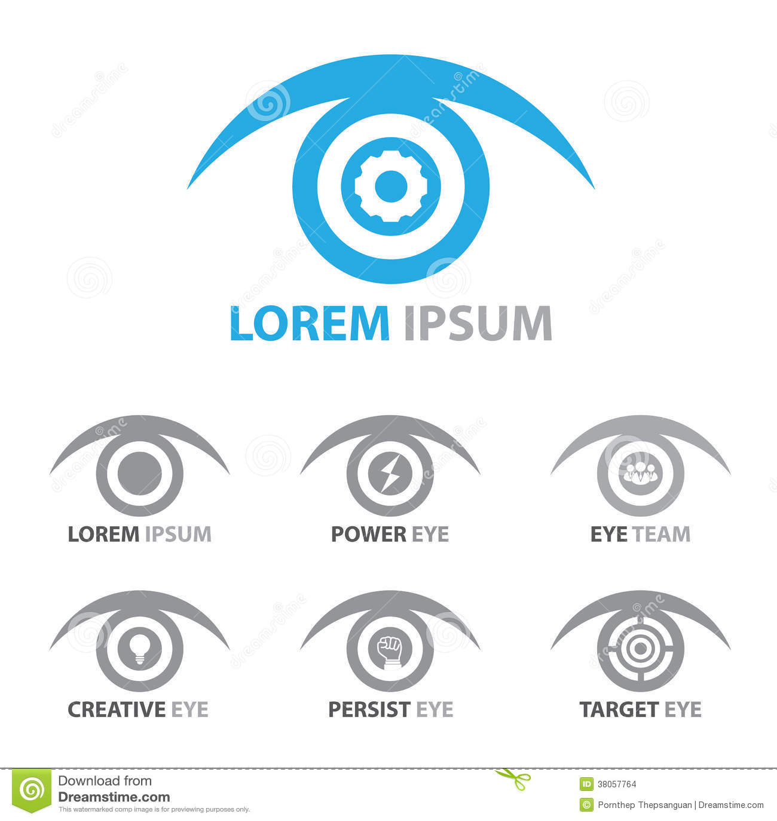 Eye Icon Symbol Set Stock Vector Illustration Of Robot 38057764