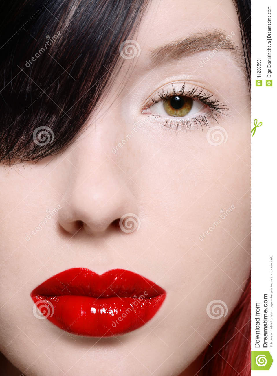 Eye and lips stock photo. Image of make, seductive, allure ...