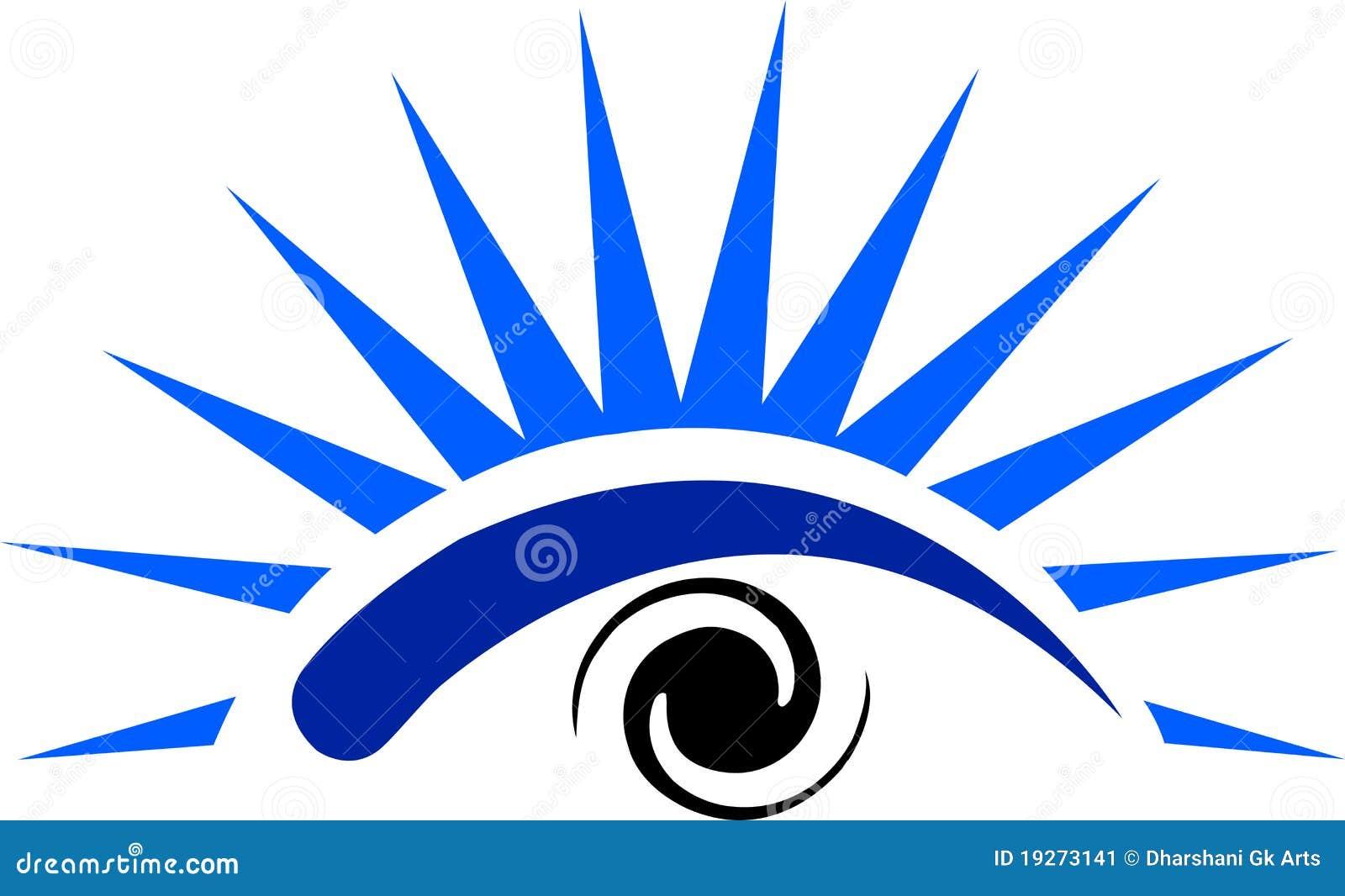 Illustration art of a eye logo with isolated background.