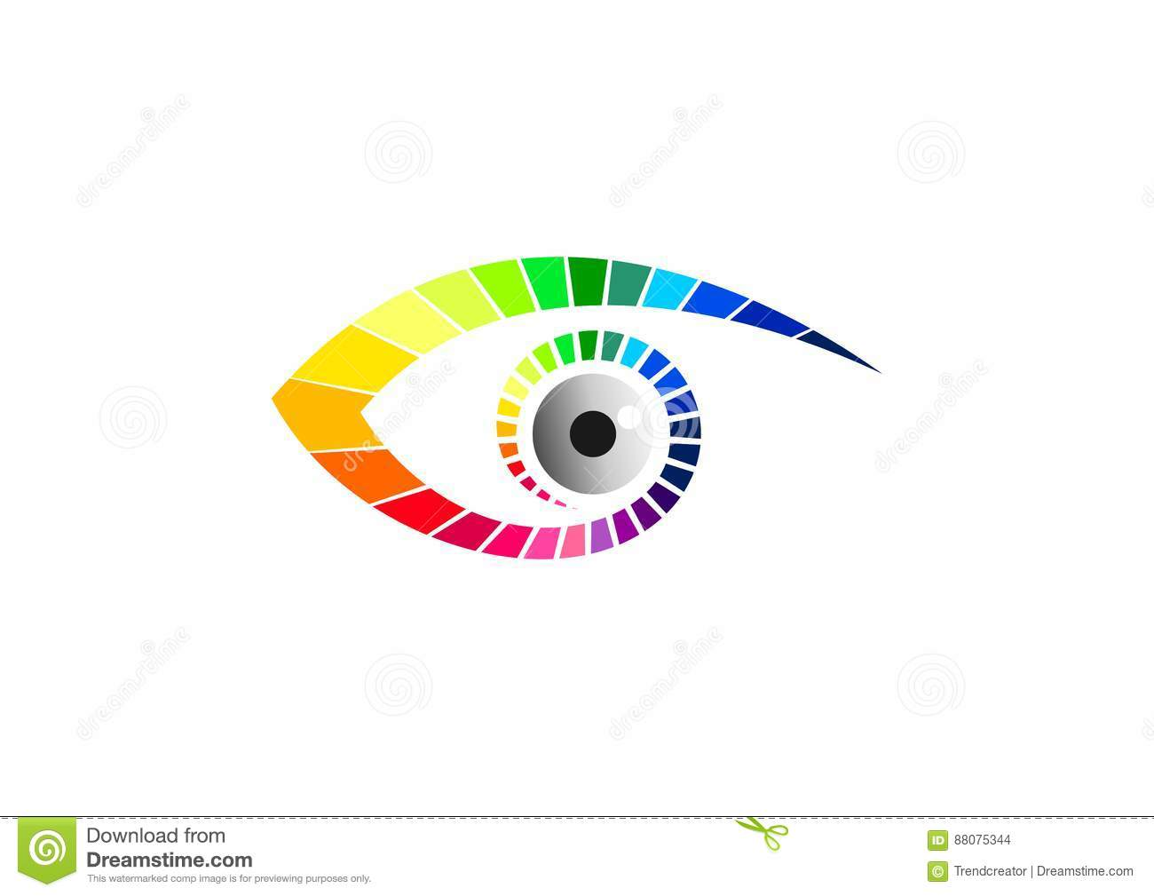 Eye logo, optic symbol, fashion glasses icon, beauty visual brand, luxury vision graphic, and contact lens concept design