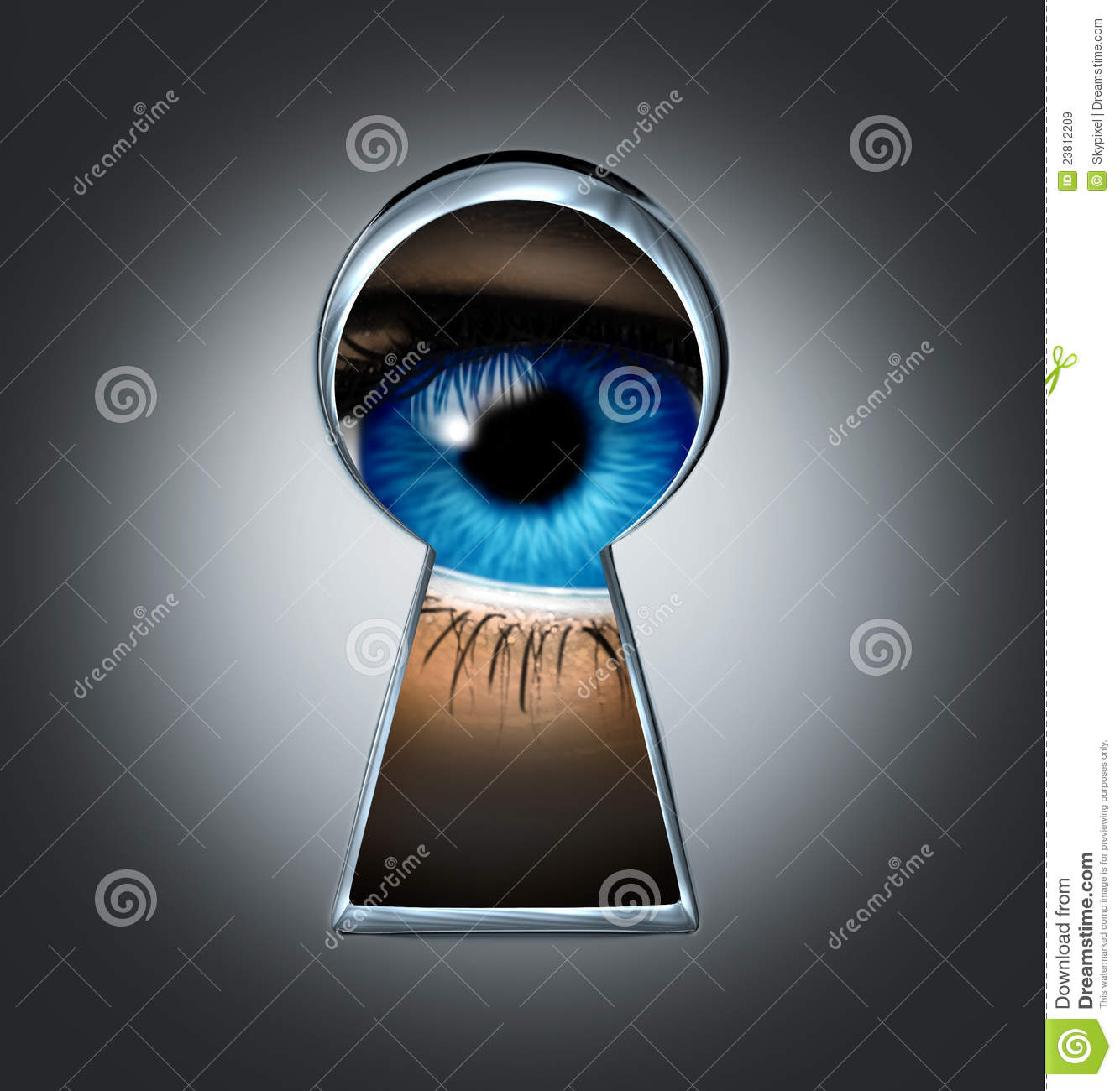 Eye Looking Through A Keyhole Royalty Free Stock Images