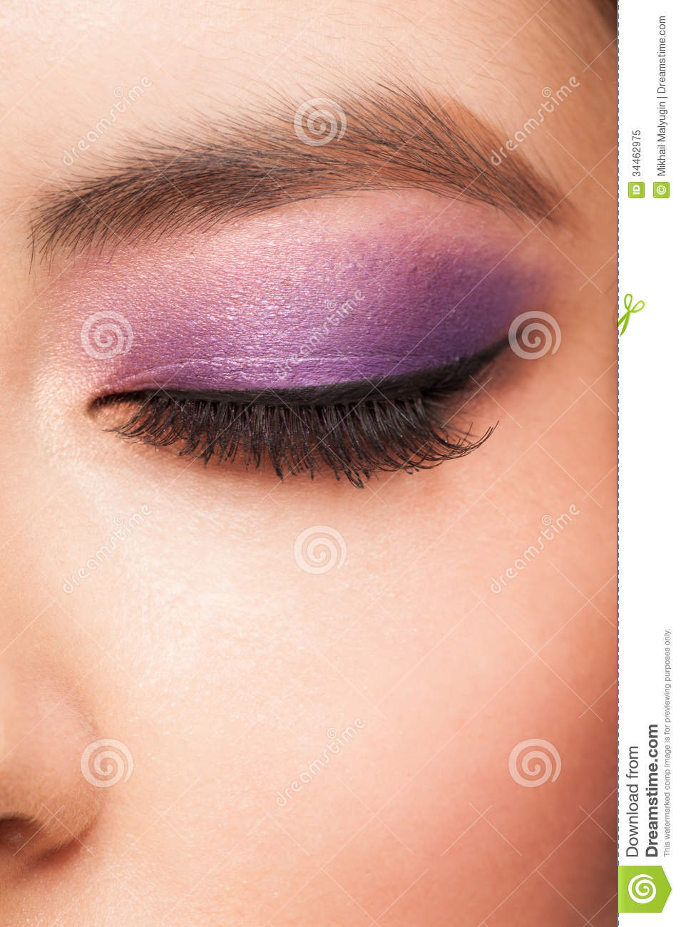 eye with makeup royalty free stock photo image 34462975
