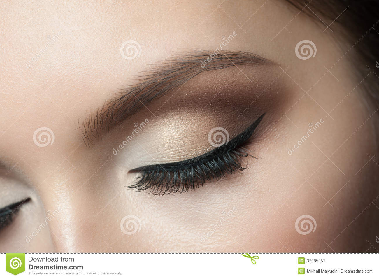 Eye Makeup Stock Image Image Of Portrait Caucasian 37085057