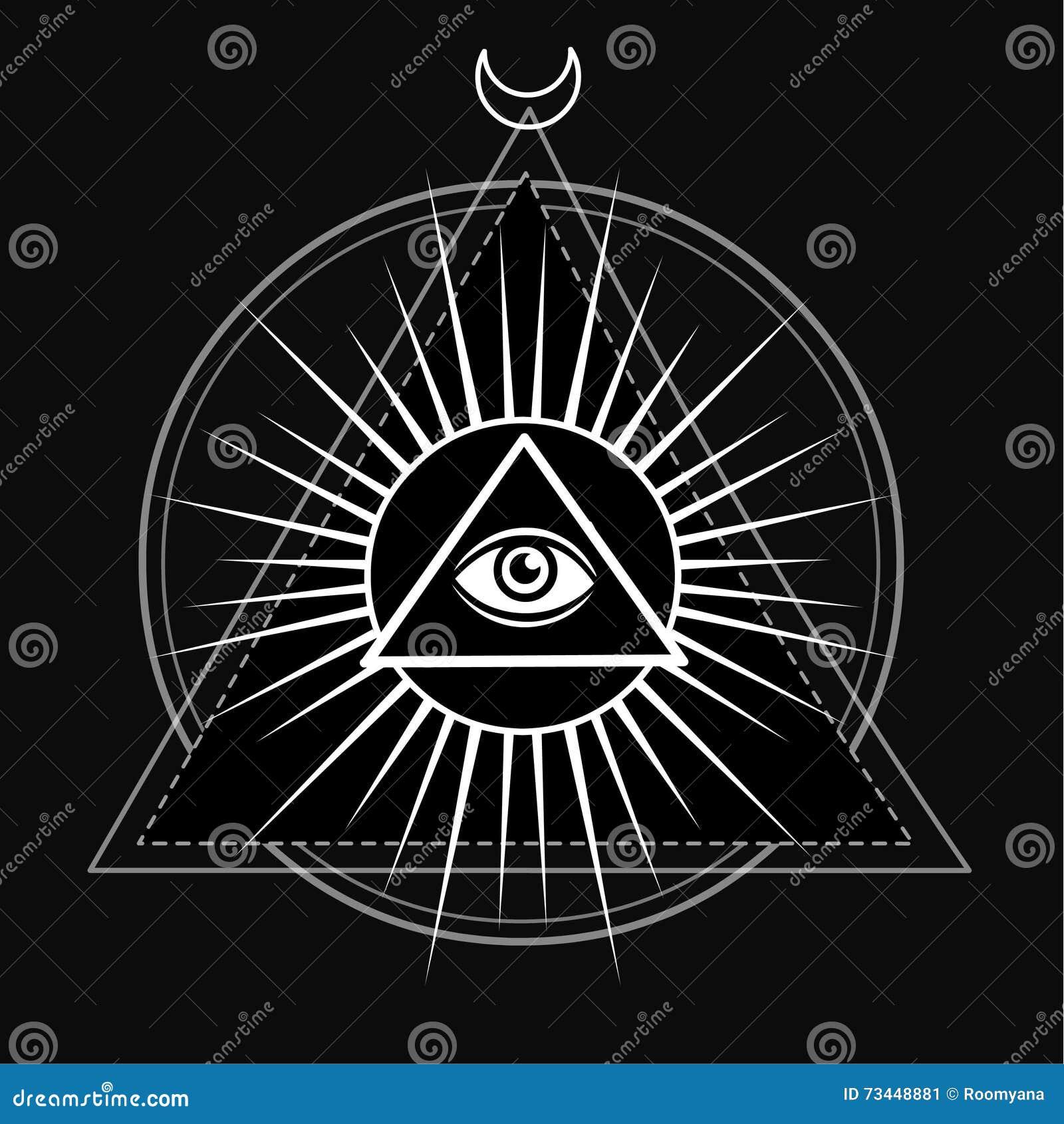Eye of providence all seeing eye inside triangle pyramid stock all seeing eye inside triangle pyramid buycottarizona Image collections