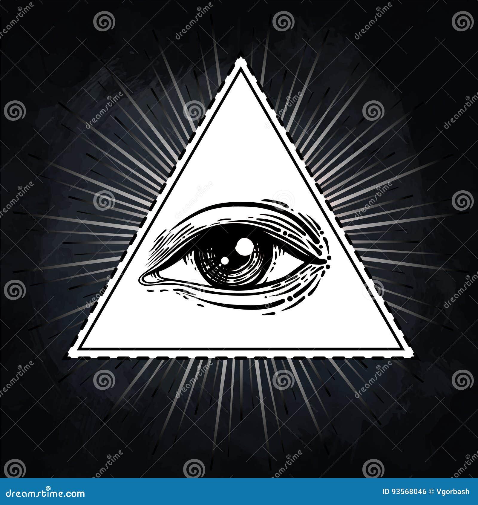 Eye Of Providence Masonic Symbol All Seeing Eye Inside Triangl