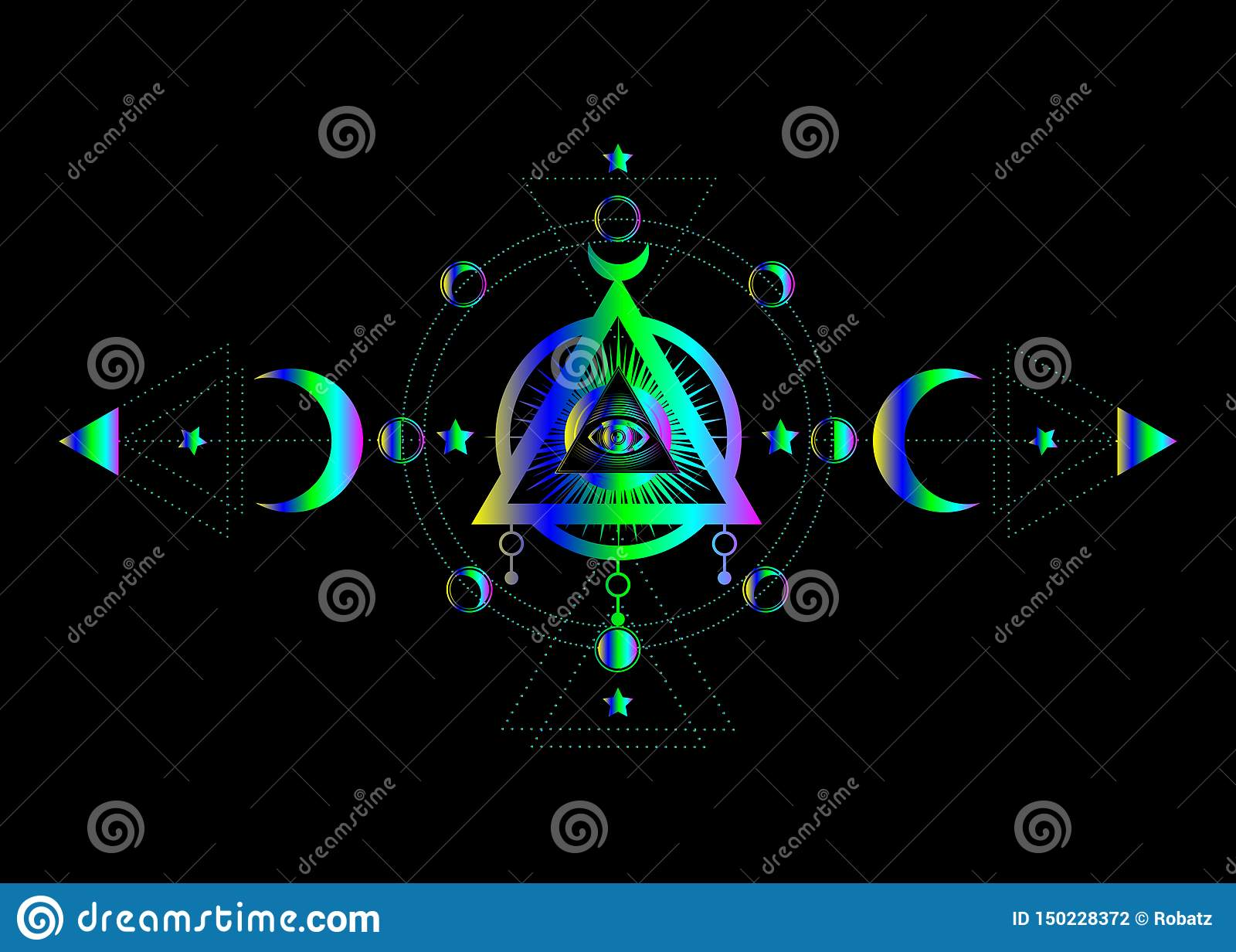 Eye Of Providence  Masonic Symbol  All Seeing Eye Inside