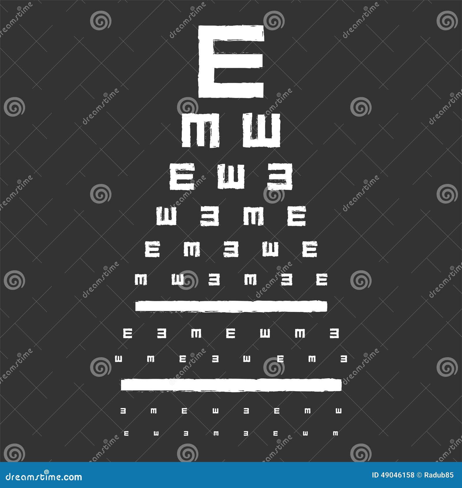 Eye Sight Test Chart Stock Vector Illustration Of Medication 49046158